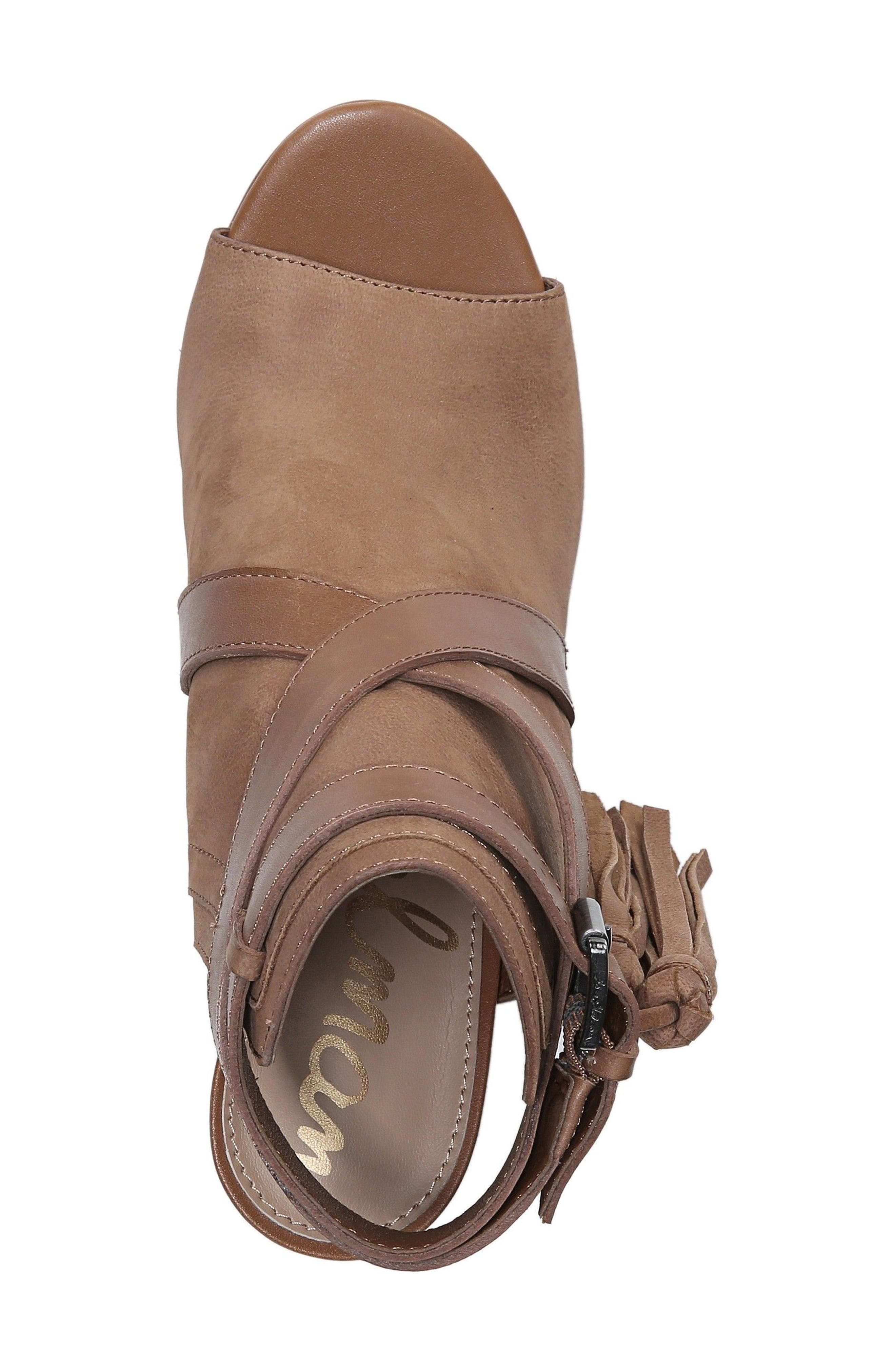 Vermont Block Heel Sandal,                             Alternate thumbnail 5, color,                             Deep Saddle Nubuck Leather