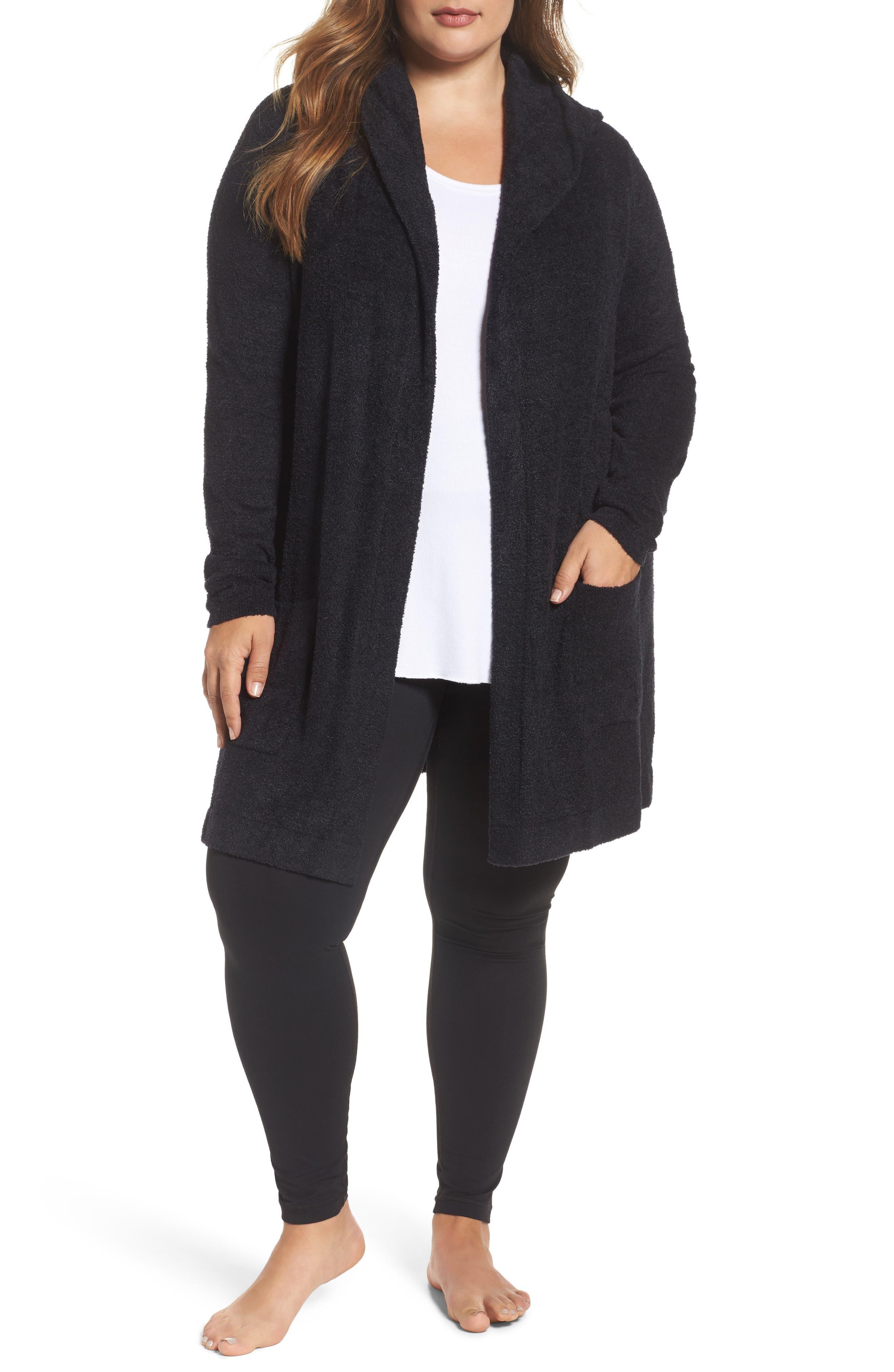 Barefoot Dreams® Cozychic Lite® Coastal Hooded Cardigan (Plus Size)