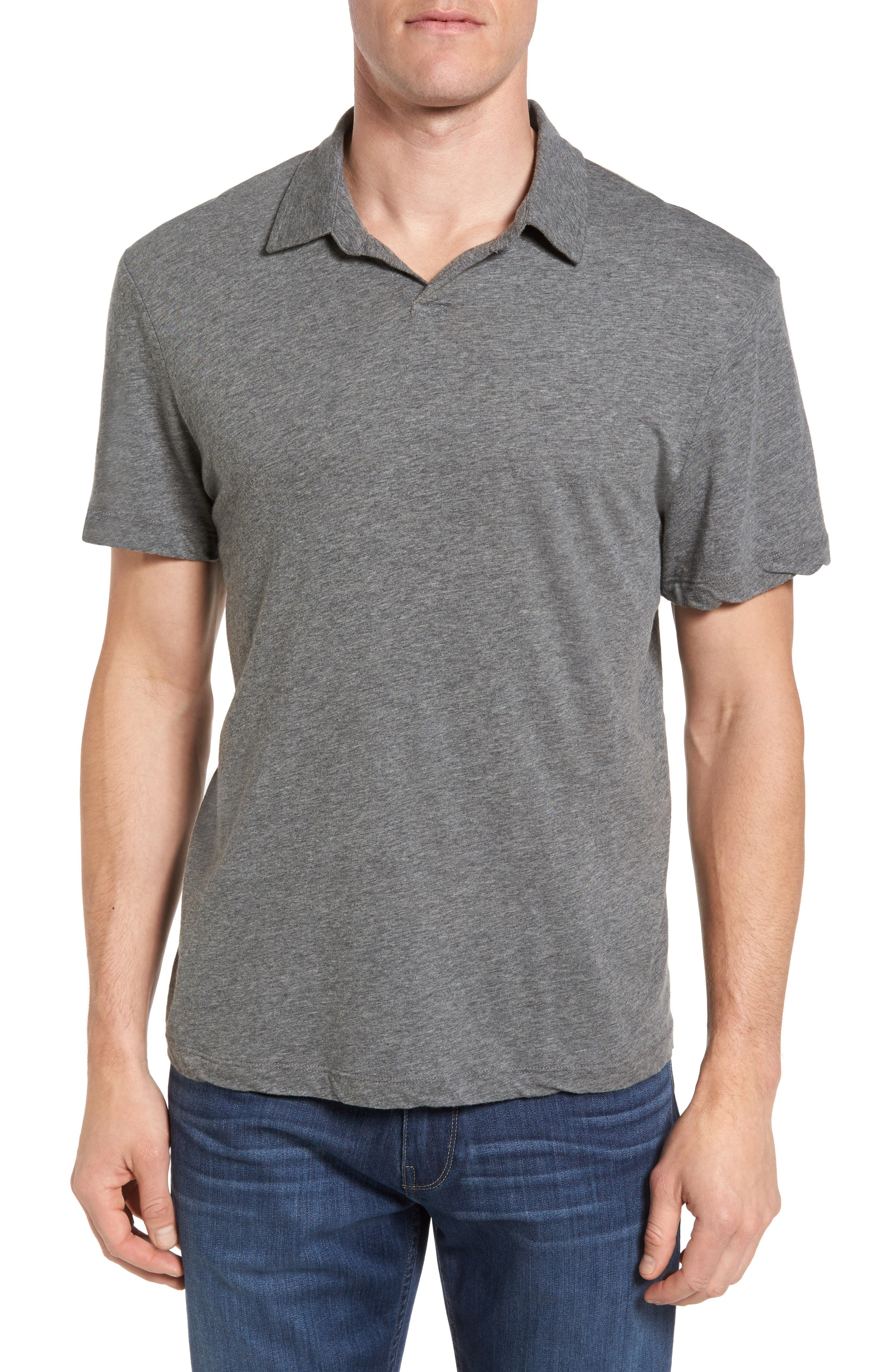 James Perse Mélange Jersey Polo