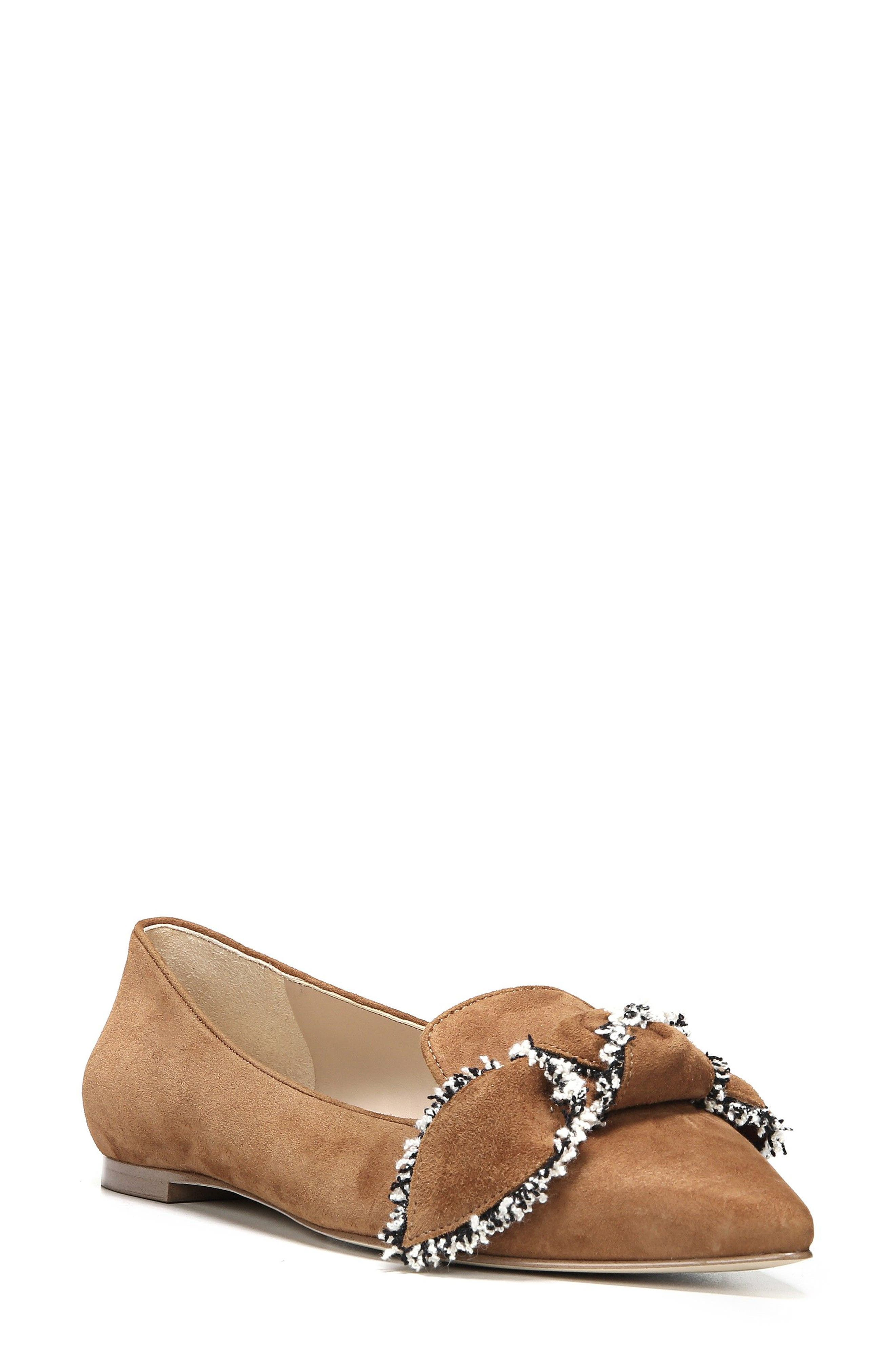 Sam Edelman Rochester Bow Pointy Toe Flat (Women)