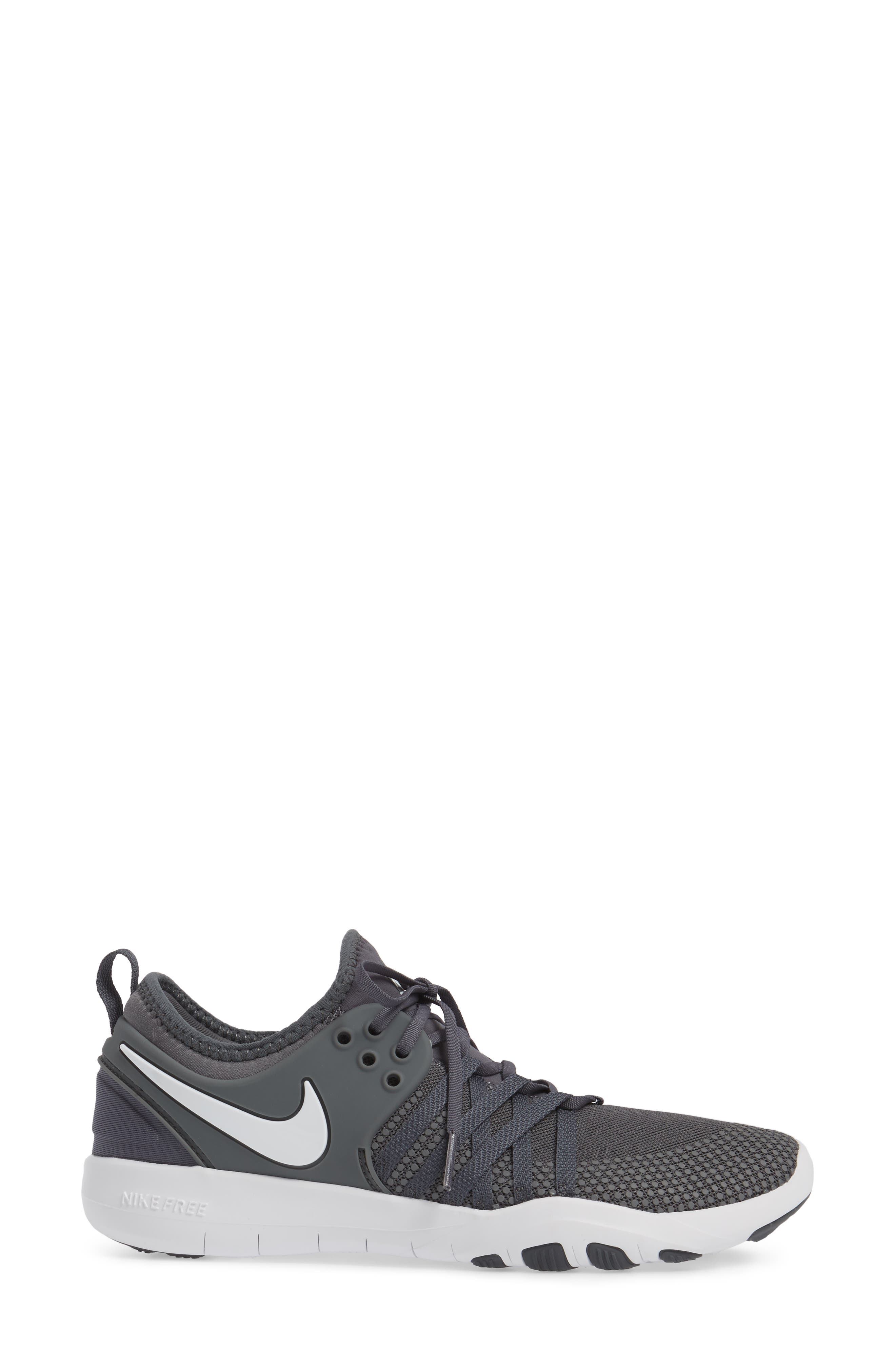 Free TR 7 Training Shoe,                             Alternate thumbnail 3, color,                             Dark Grey/ White