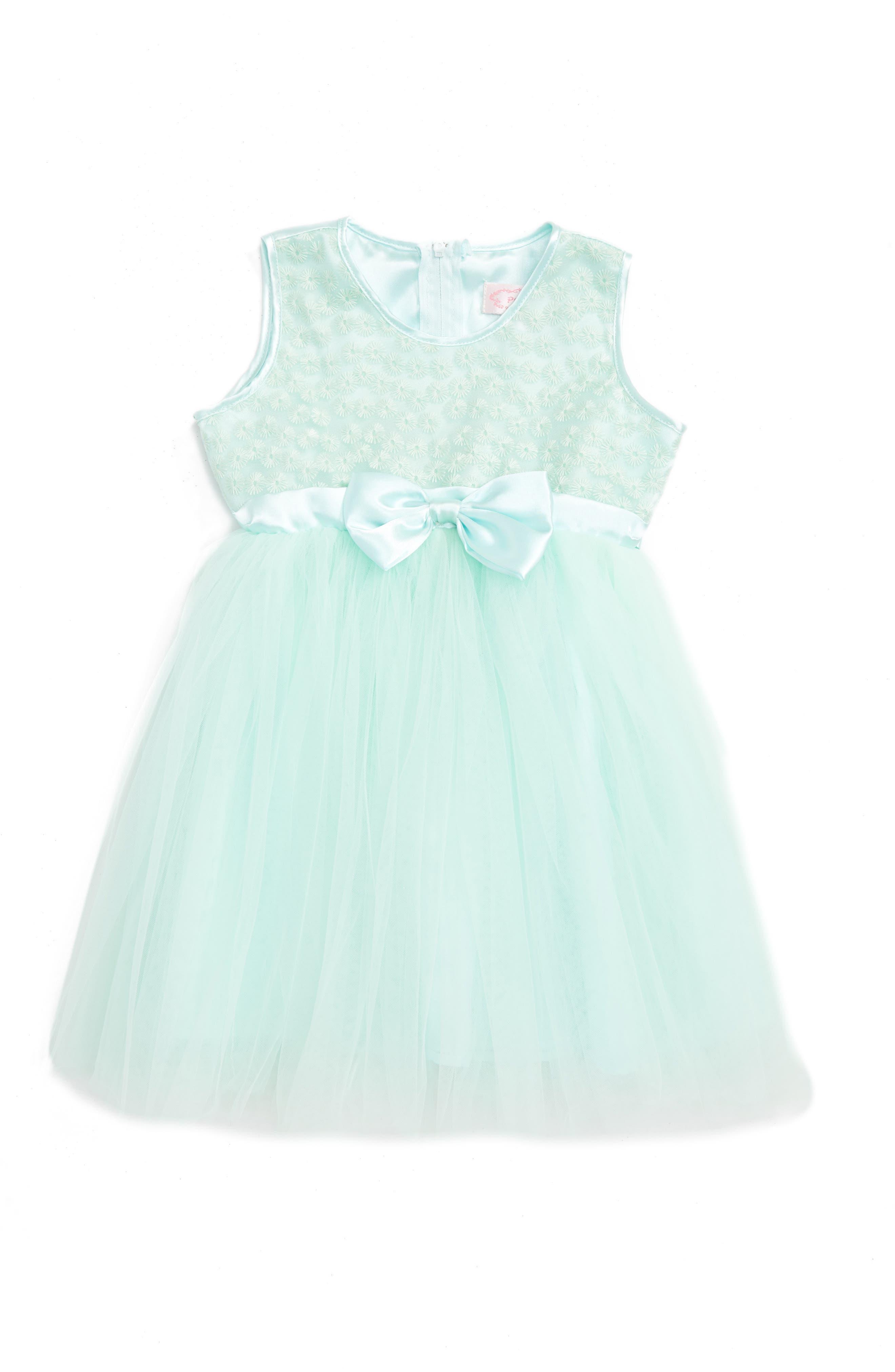 Main Image - Popatu Sleeveless Tulle Dress (Baby Girls)