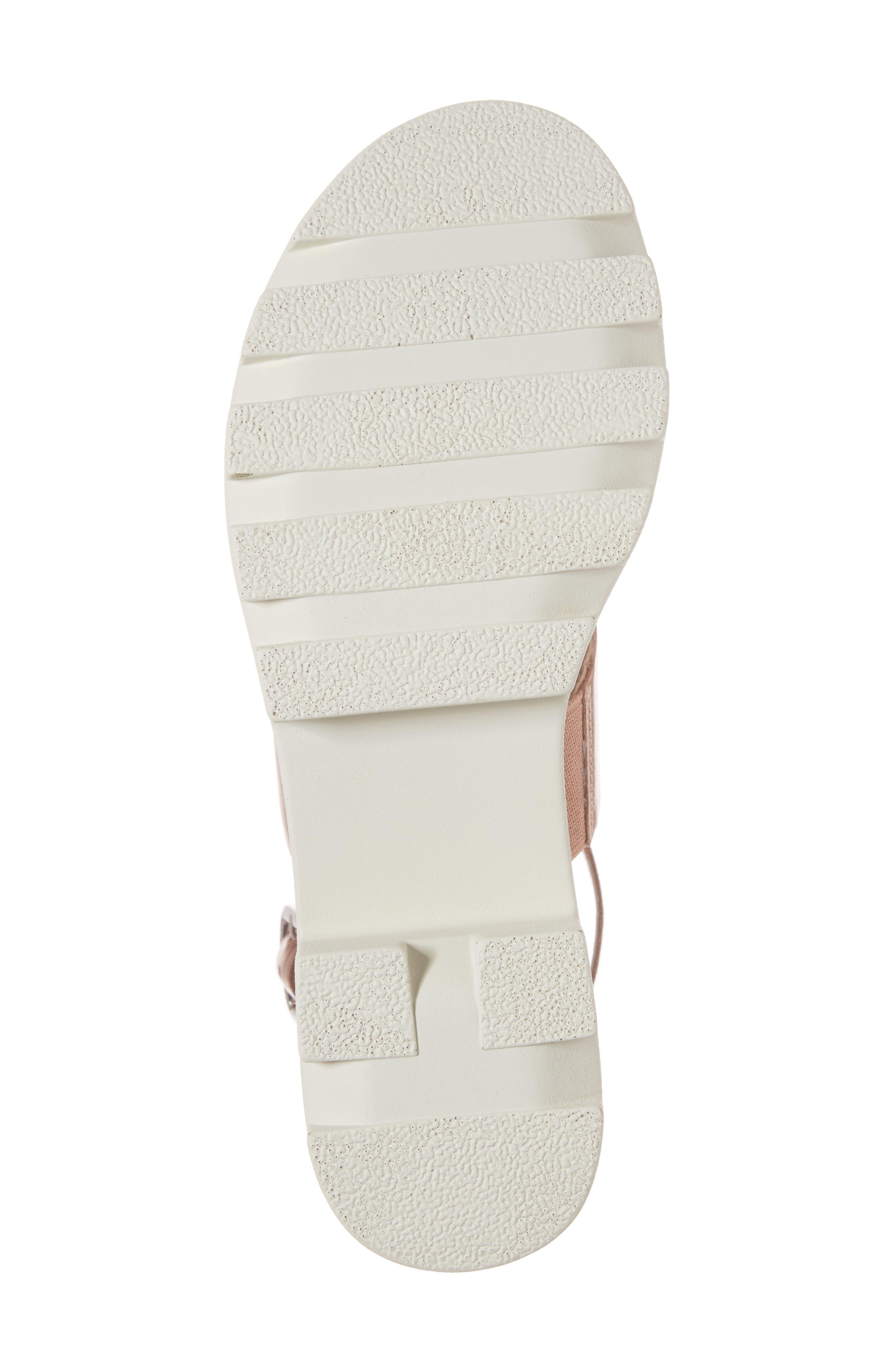 Rowan Platform Sandal,                             Alternate thumbnail 6, color,                             Rose Gold Leather