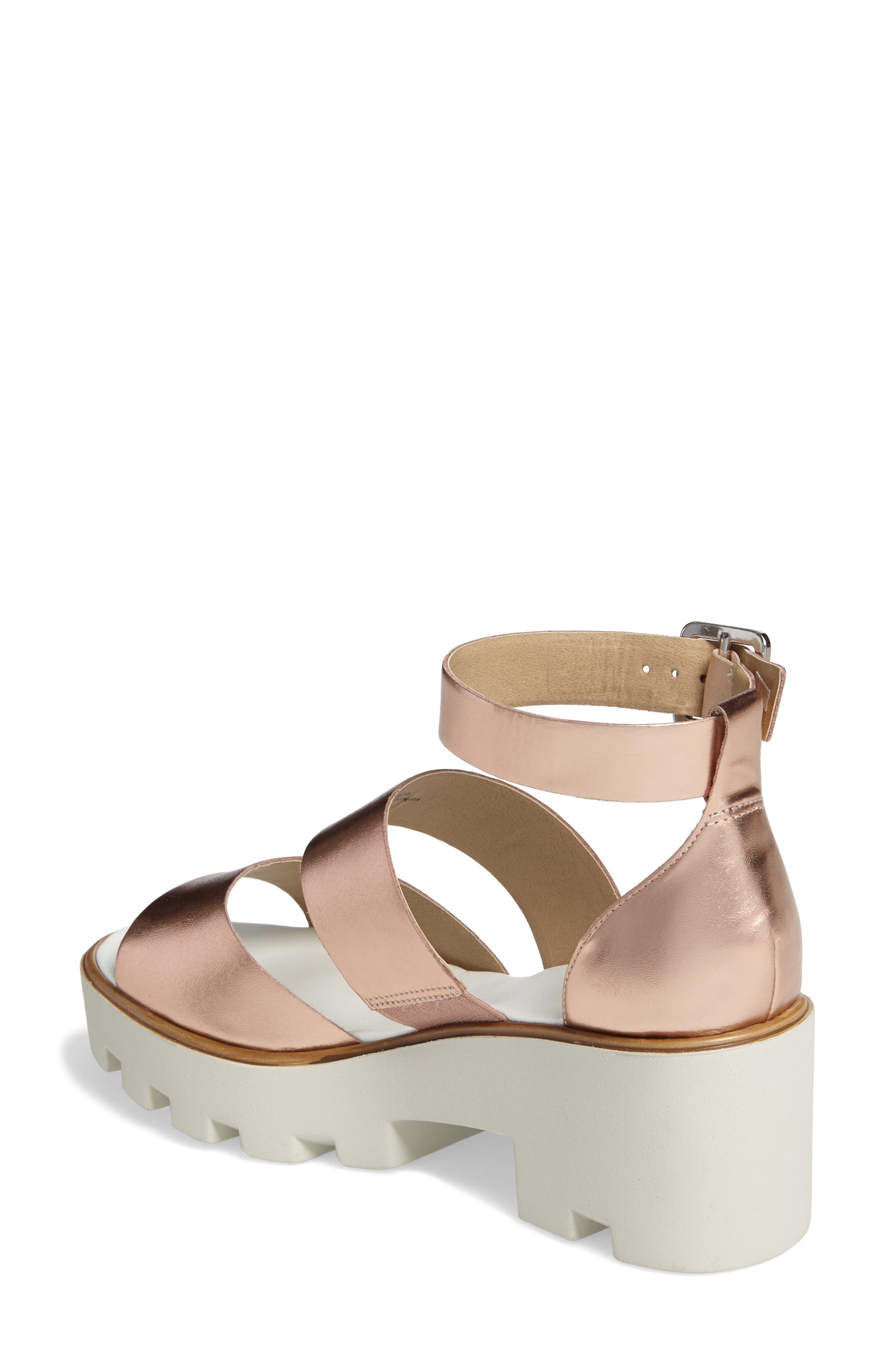 Rowan Platform Sandal,                             Alternate thumbnail 2, color,                             Rose Gold Leather
