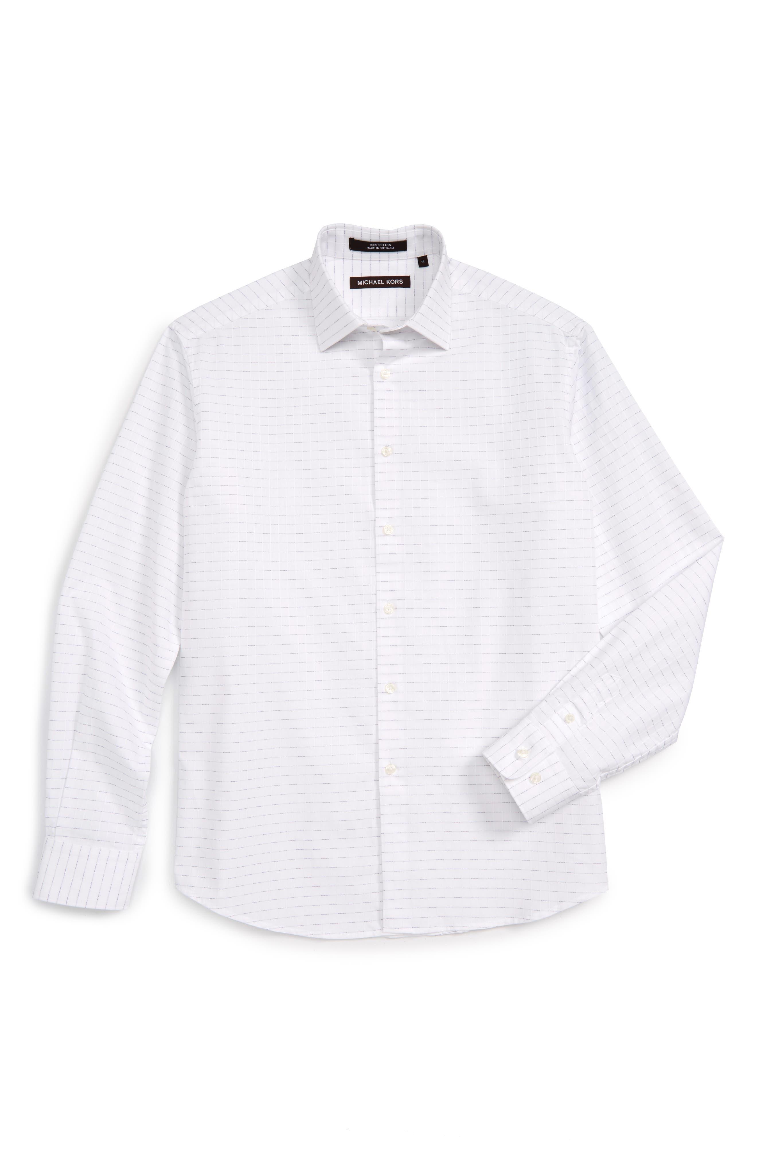 Michael Kors Stripe Dress Shirt (Big Boys)