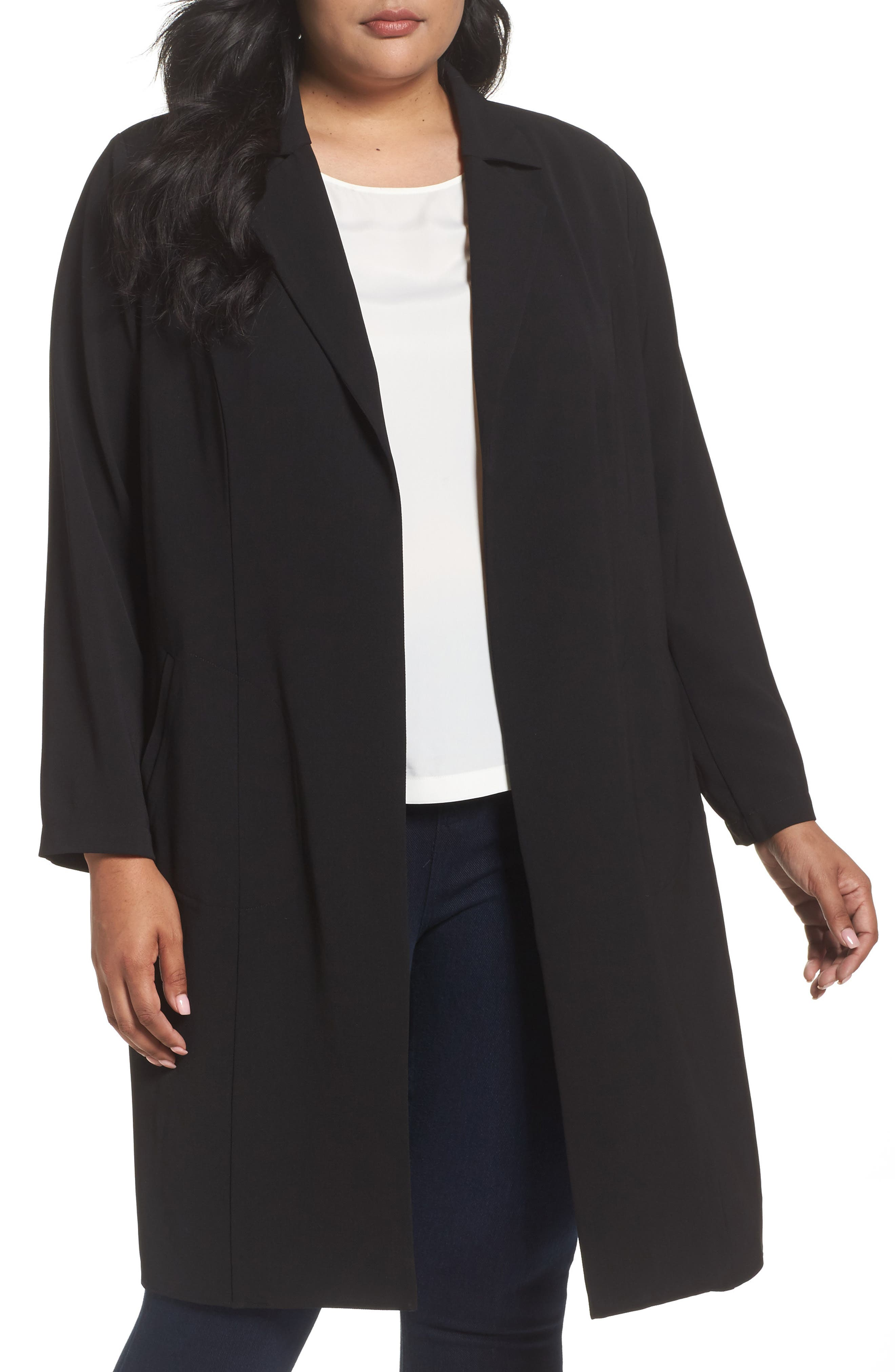Alternate Image 1 Selected - Vince Camuto Long Jacket (Plus Size)