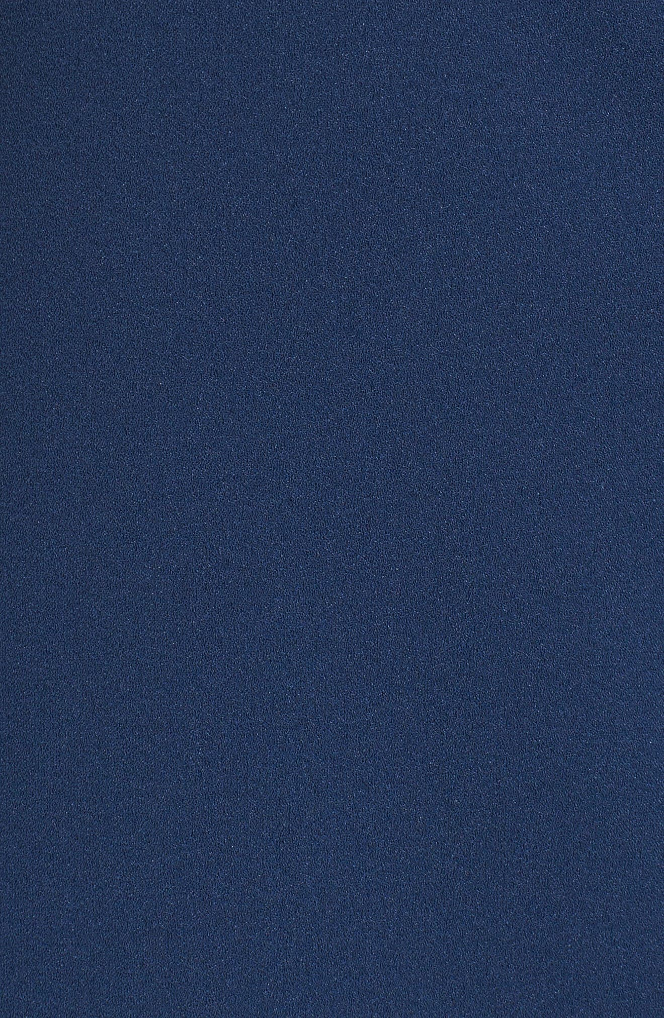 Vera Lace Sleeveless Blouse,                             Alternate thumbnail 5, color,                             Navy