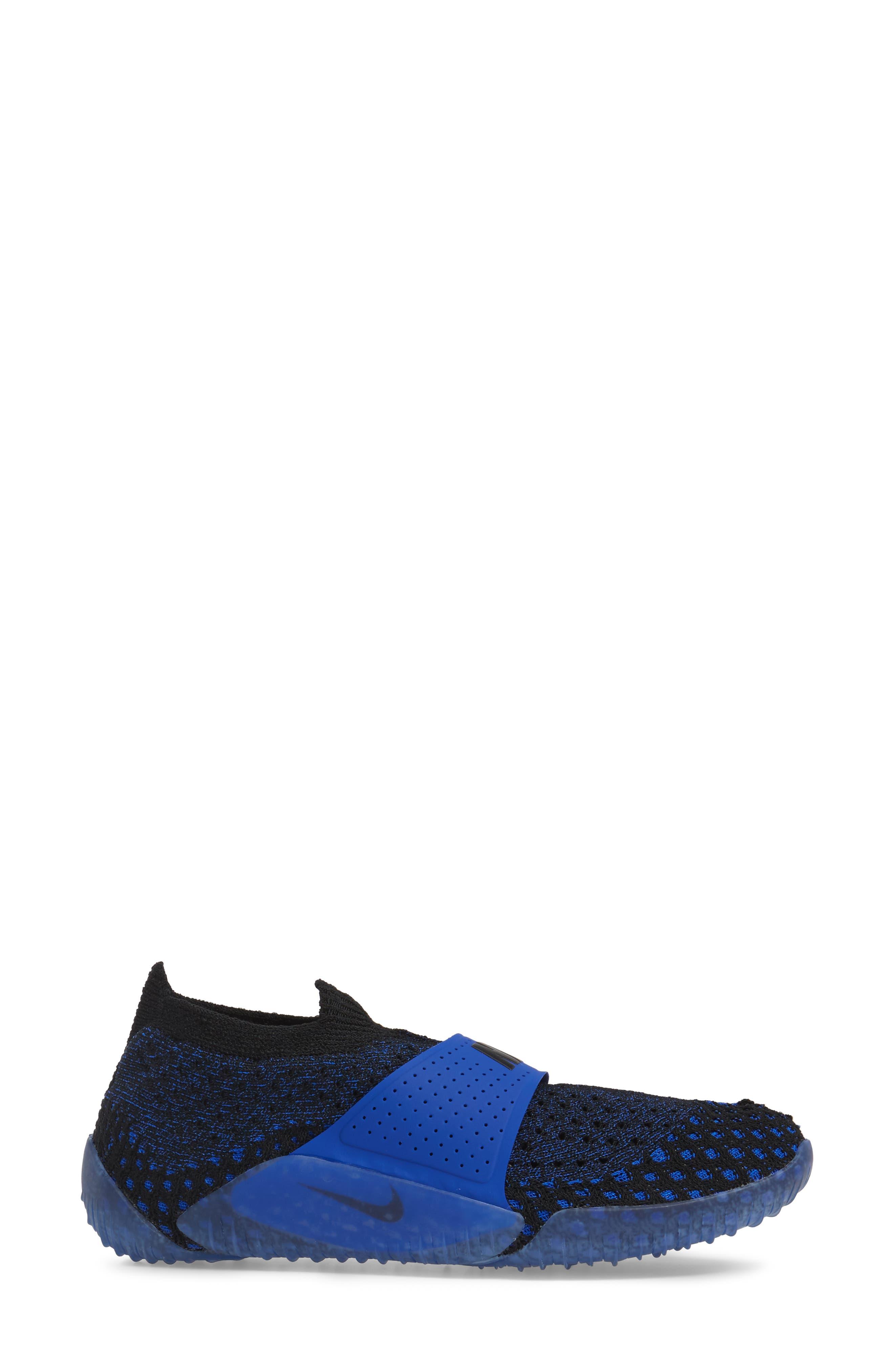 City Knife 3 Flyknit Sneaker,                             Alternate thumbnail 3, color,                             Racer Blue/ Black/ Black