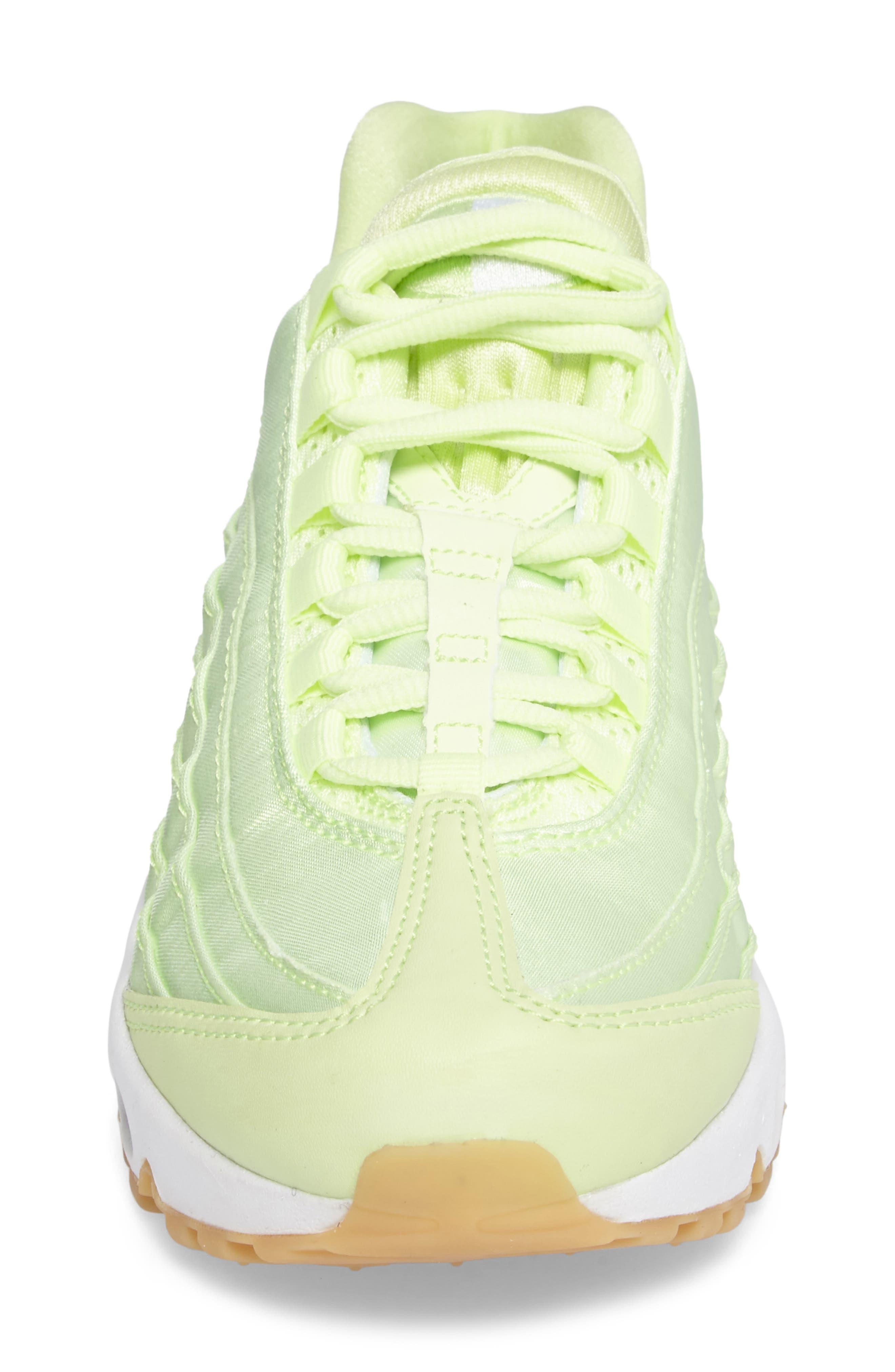 Air Max 95 QS Running Shoe,                             Alternate thumbnail 4, color,                             Liquid Lime/ Liquid Lime