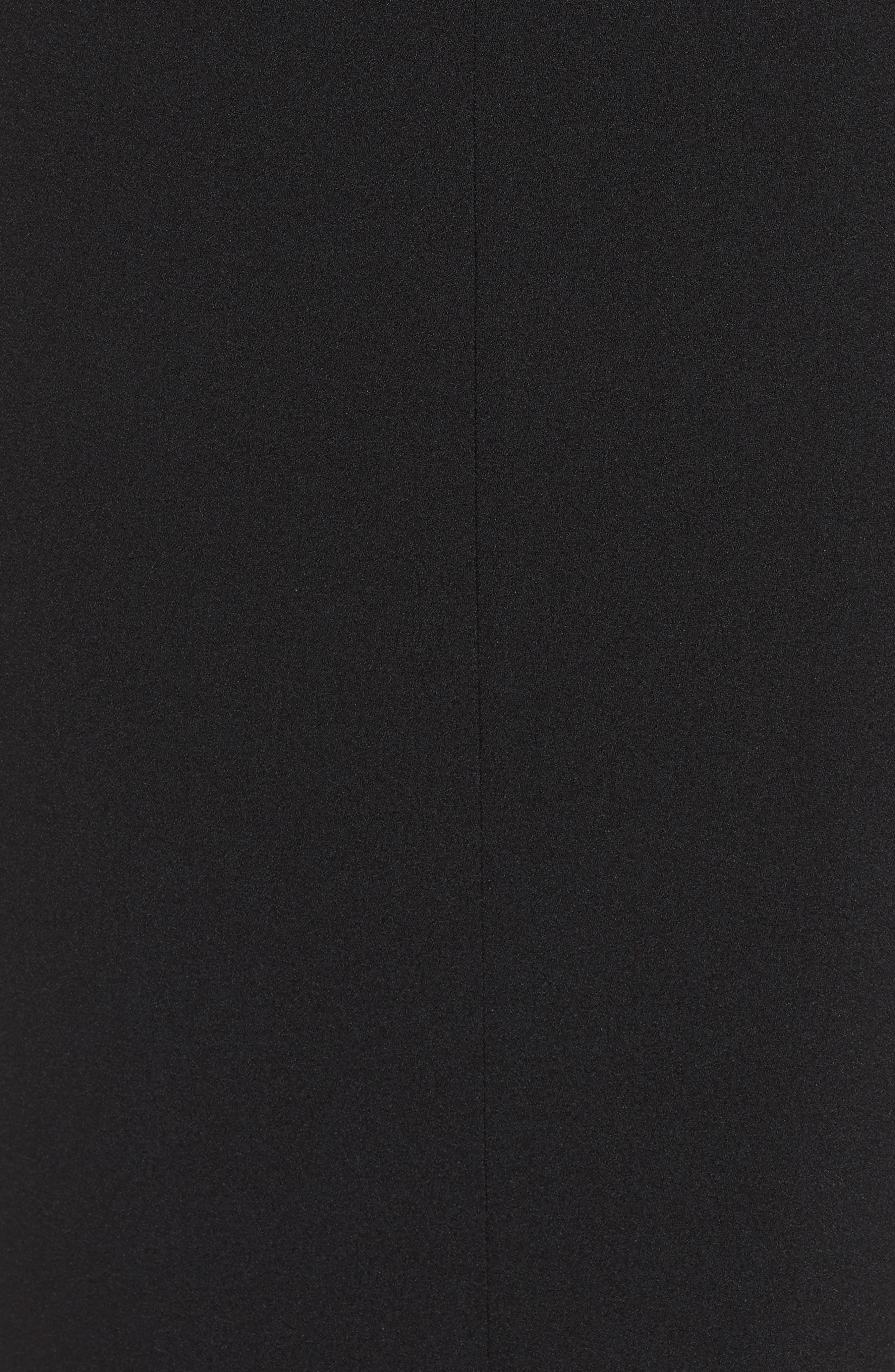 Ruffle Sleeve Sheath Dress,                             Alternate thumbnail 7, color,                             Black