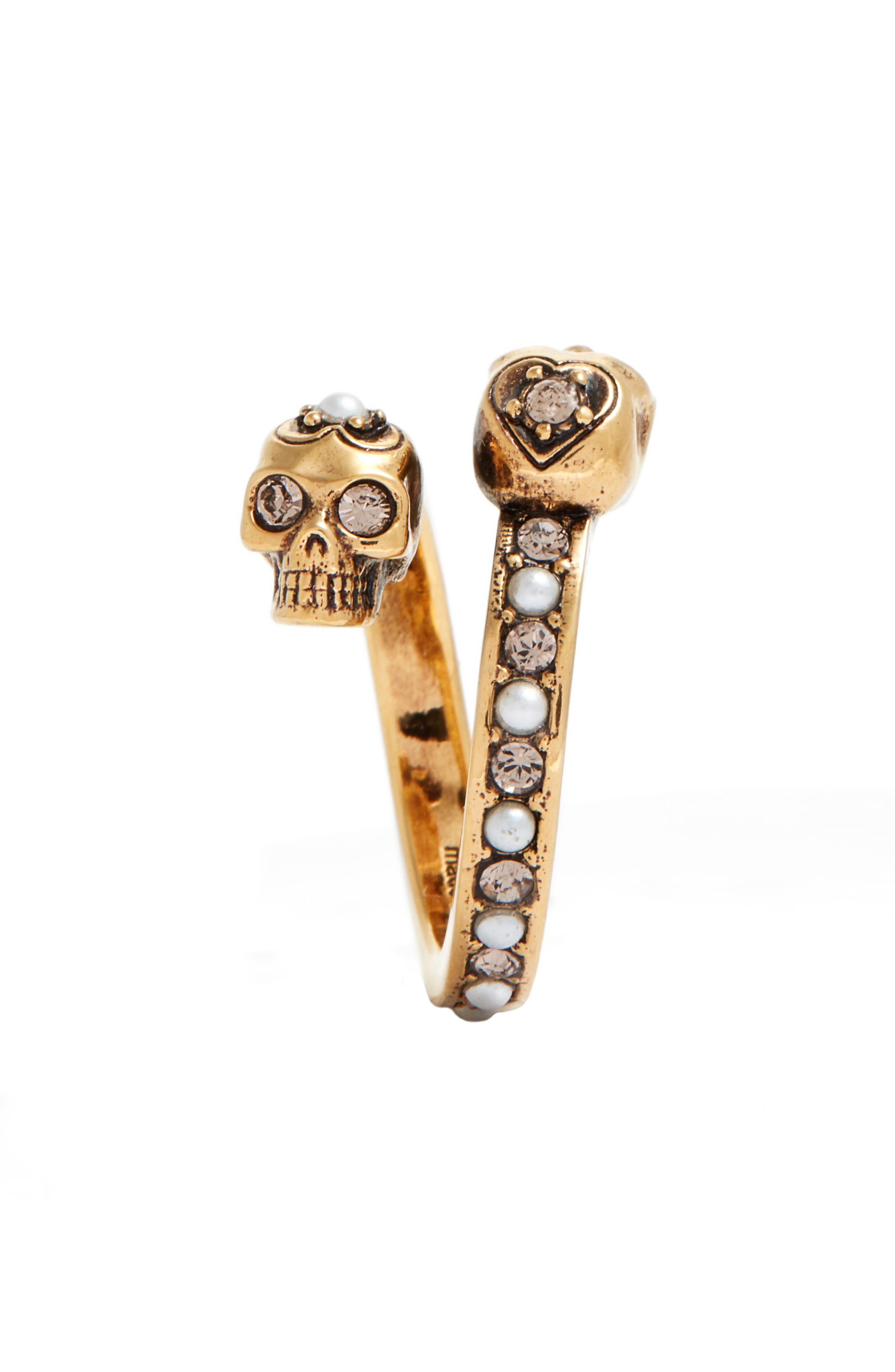 Alternate Image 2  - Alexander McQueen Twin Skull Ring