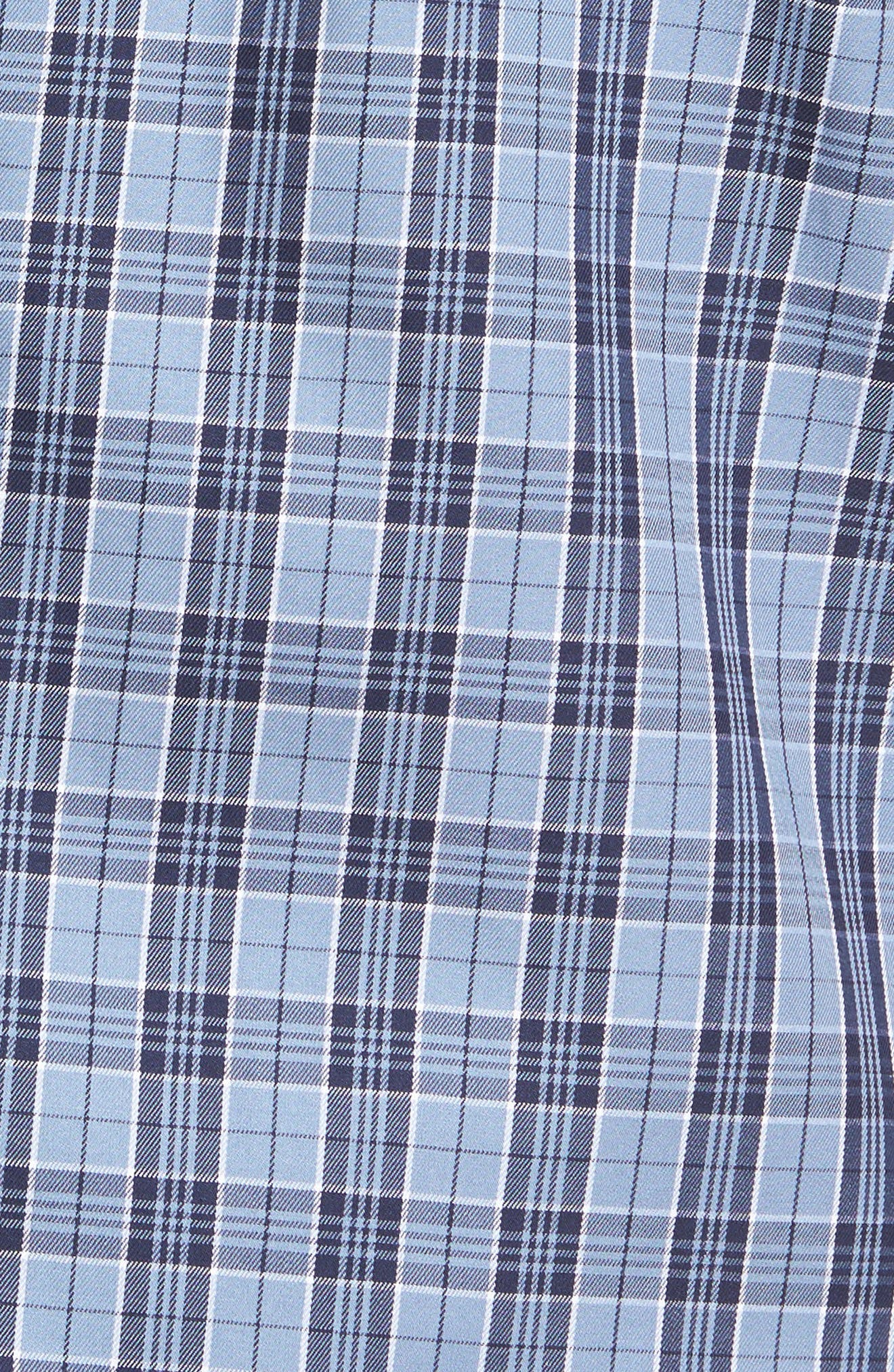 Alternate Image 5  - Peter Millar Regular Fit Short Sleeve Stormy Plaid Sport Shirt
