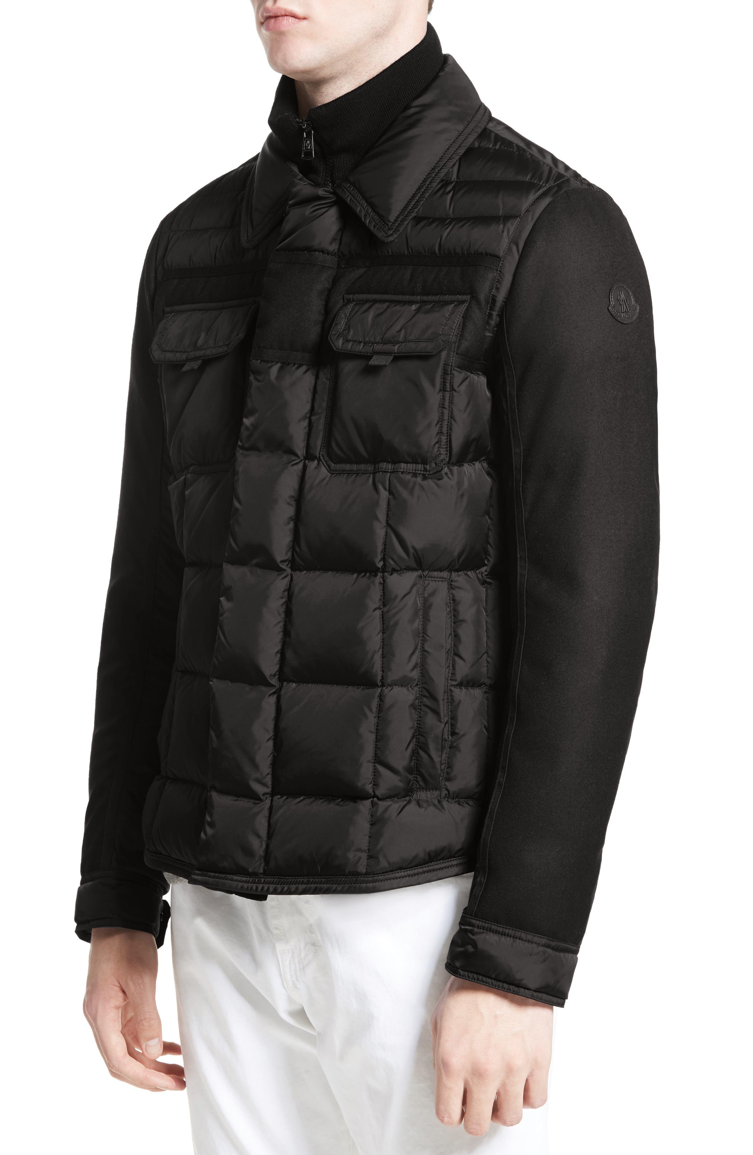 Moncler Blais Down Jacket. BLACK; GREY; NAVY