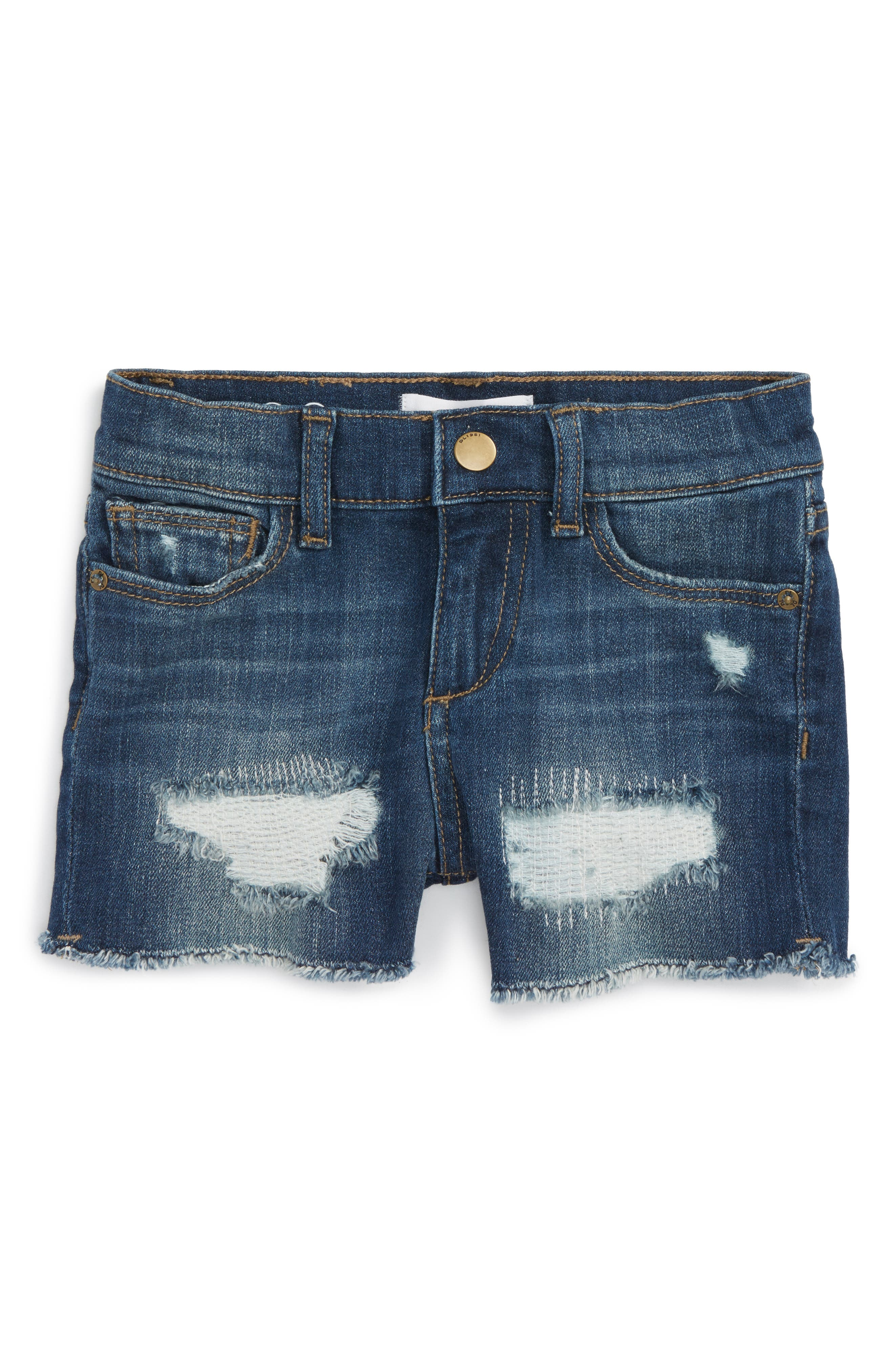 DL1961 Distressed Cutoff Denim Shorts (Toddler Girls & Little Girls)