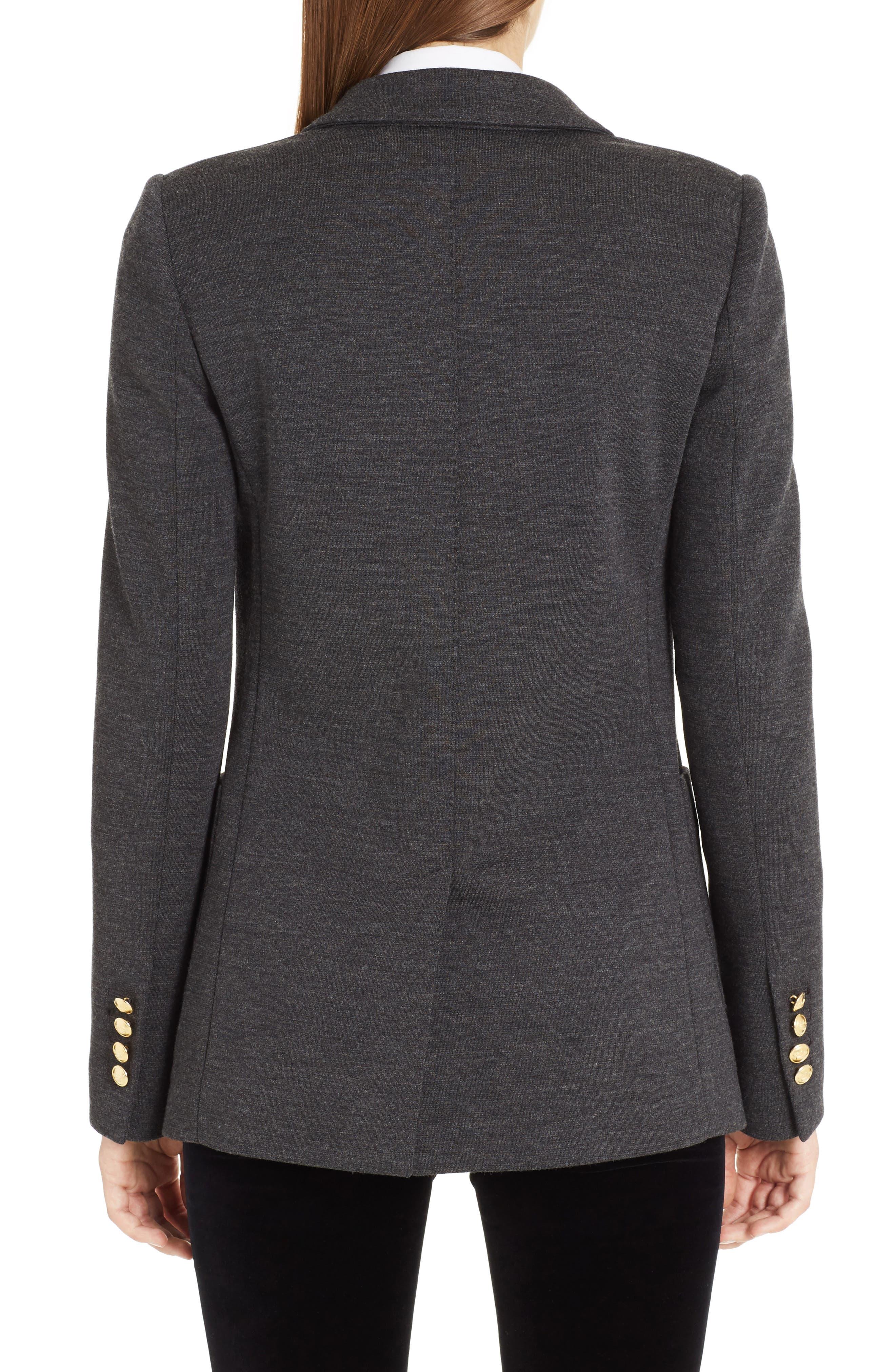 Punto Milano Wool Blazer,                             Alternate thumbnail 2, color,                             Grey Melange