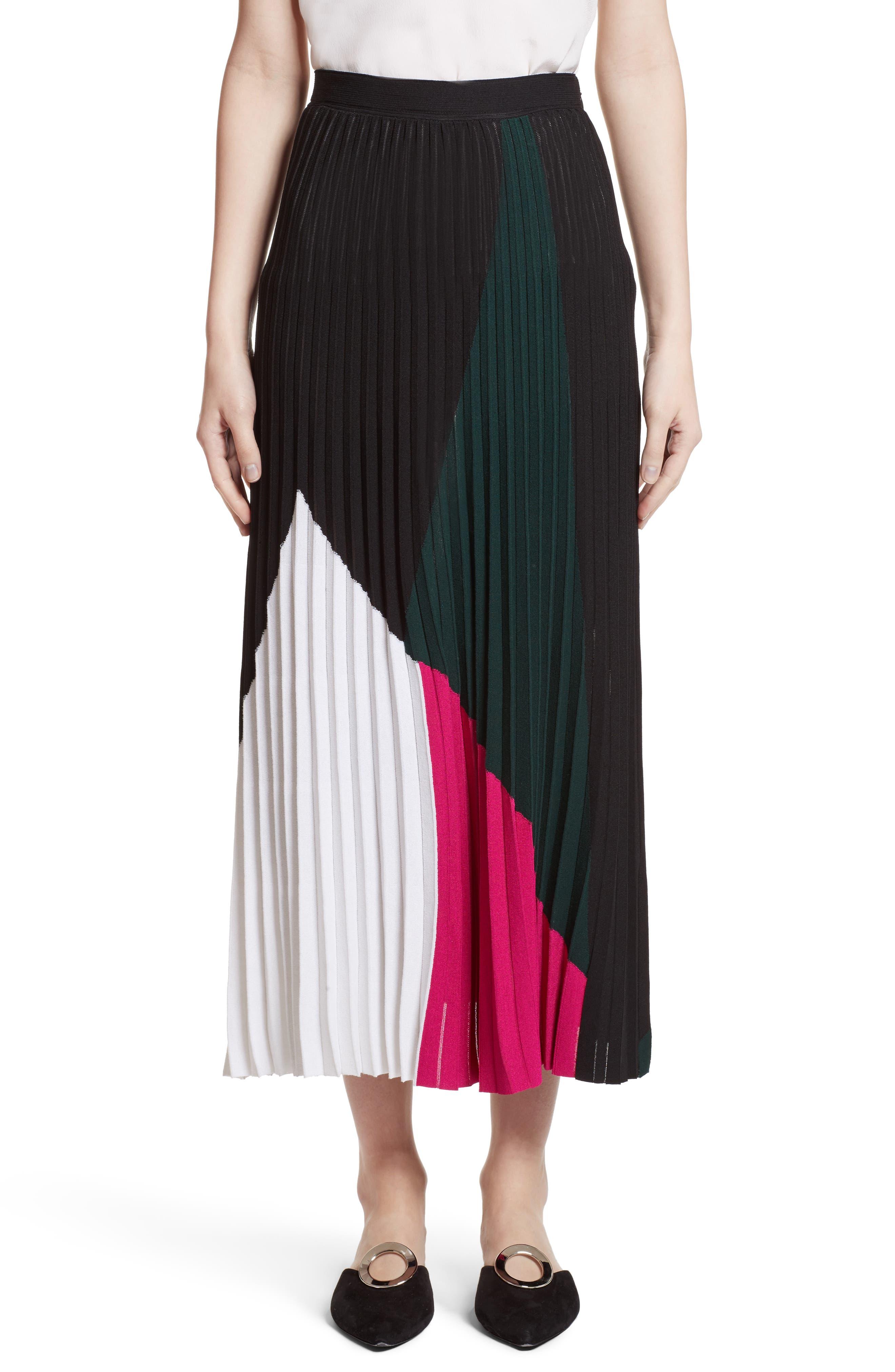 Proenza Schouler Colorblock Knit Skirt