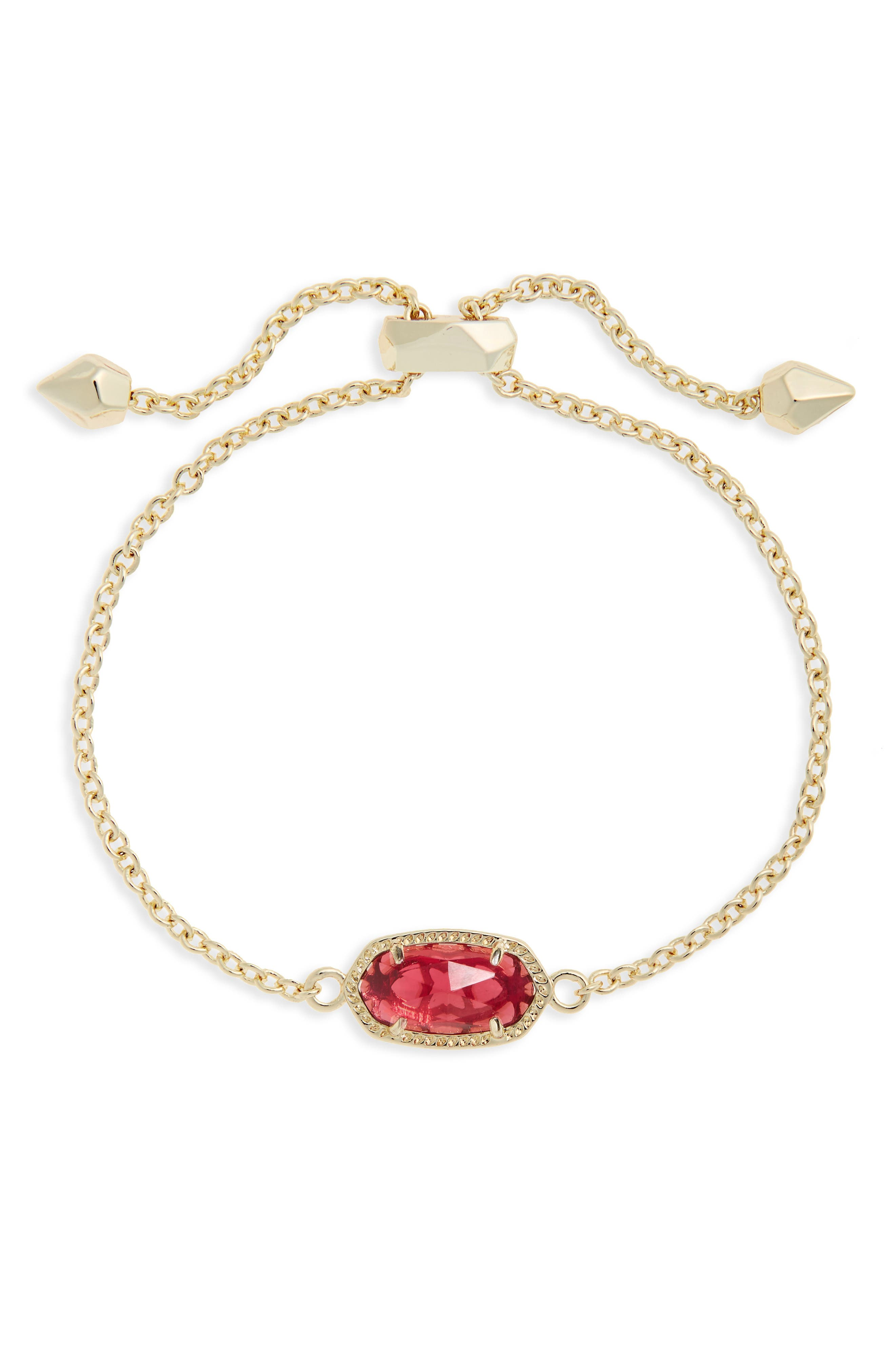 Elaina Birthstone Bracelet,                             Main thumbnail 1, color,                             January/ Berry