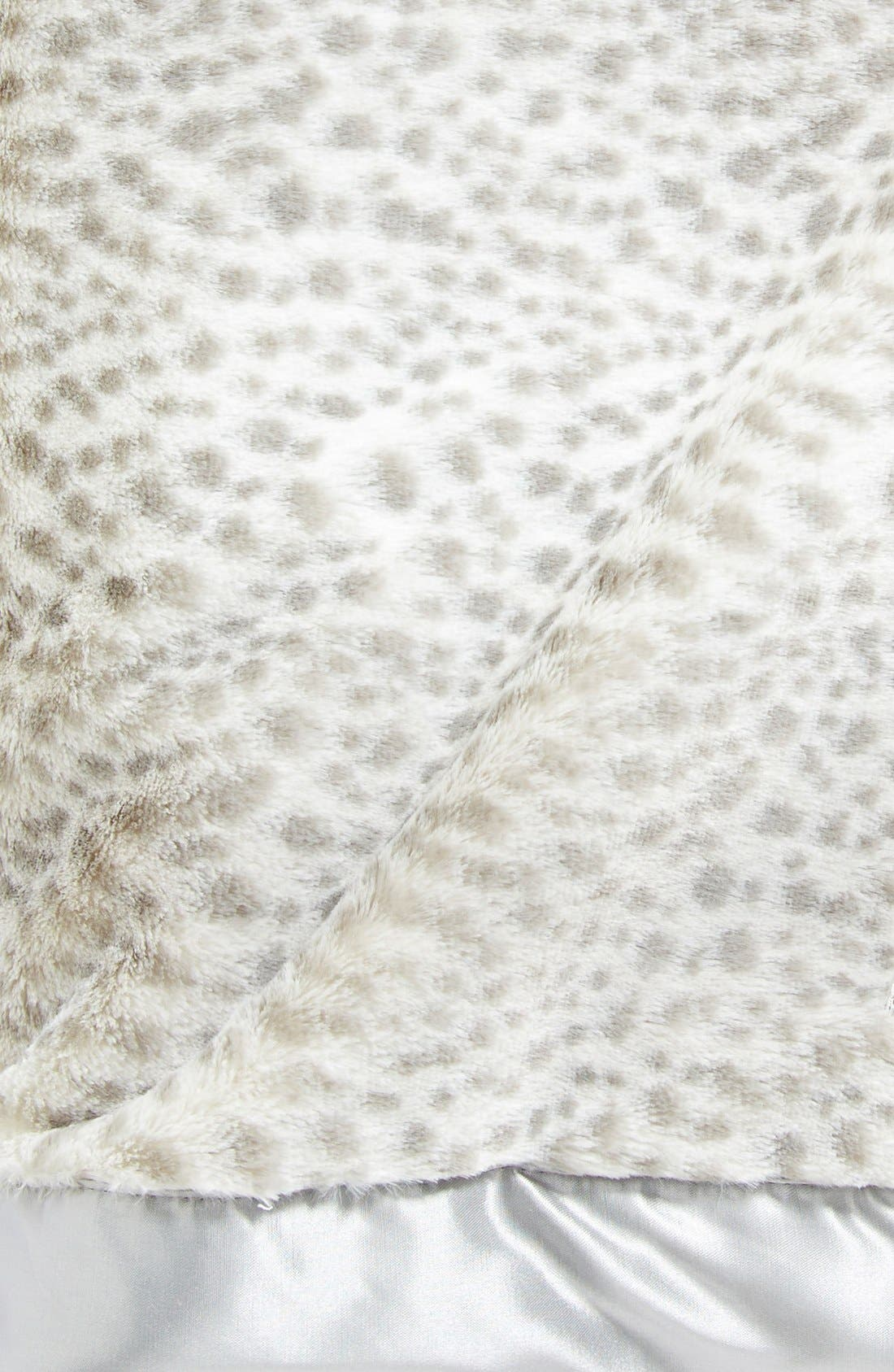 'Luxe Snow Leopard' Faux Fur Throw,                             Alternate thumbnail 2, color,                             Silver