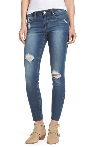 Main Image - Articles of Society Sarah Skinny Jeans (Prairie)