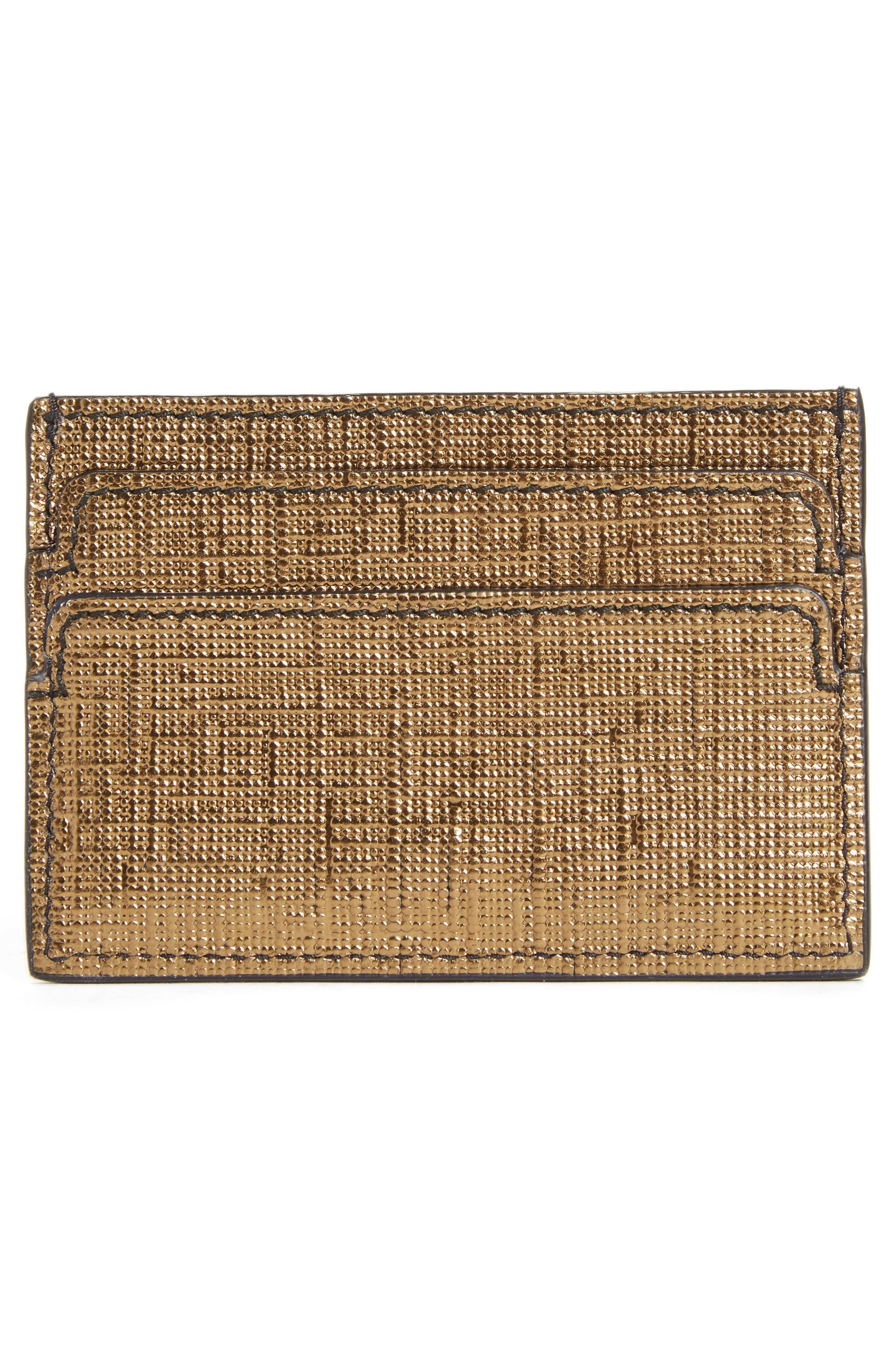 Alternate Image 2  - Alexander McQueen Textured Leather Card Case