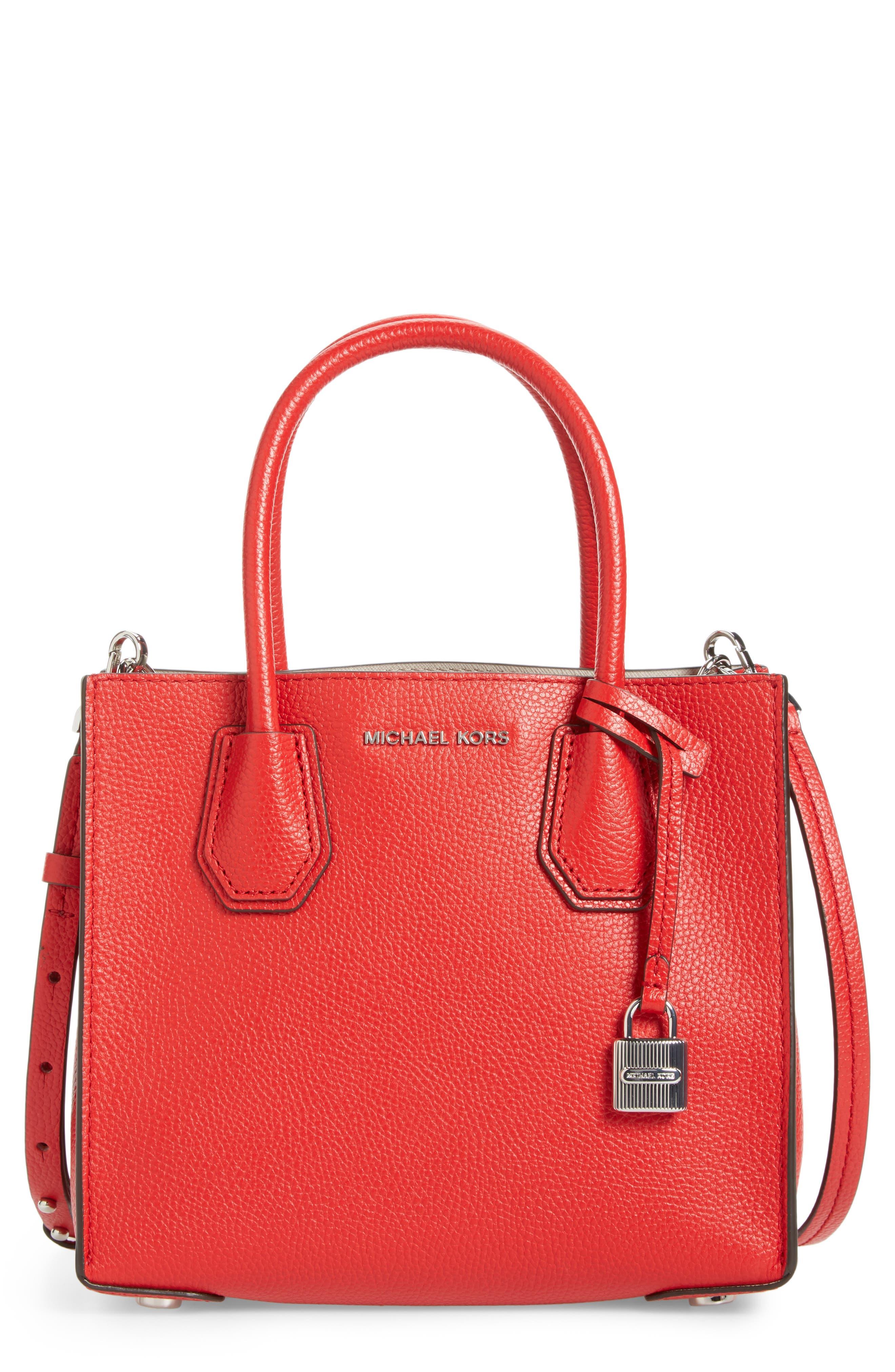Alternate Image 1 Selected - MICHAEL Michael Kors Mercer Leather Crossbody Bag