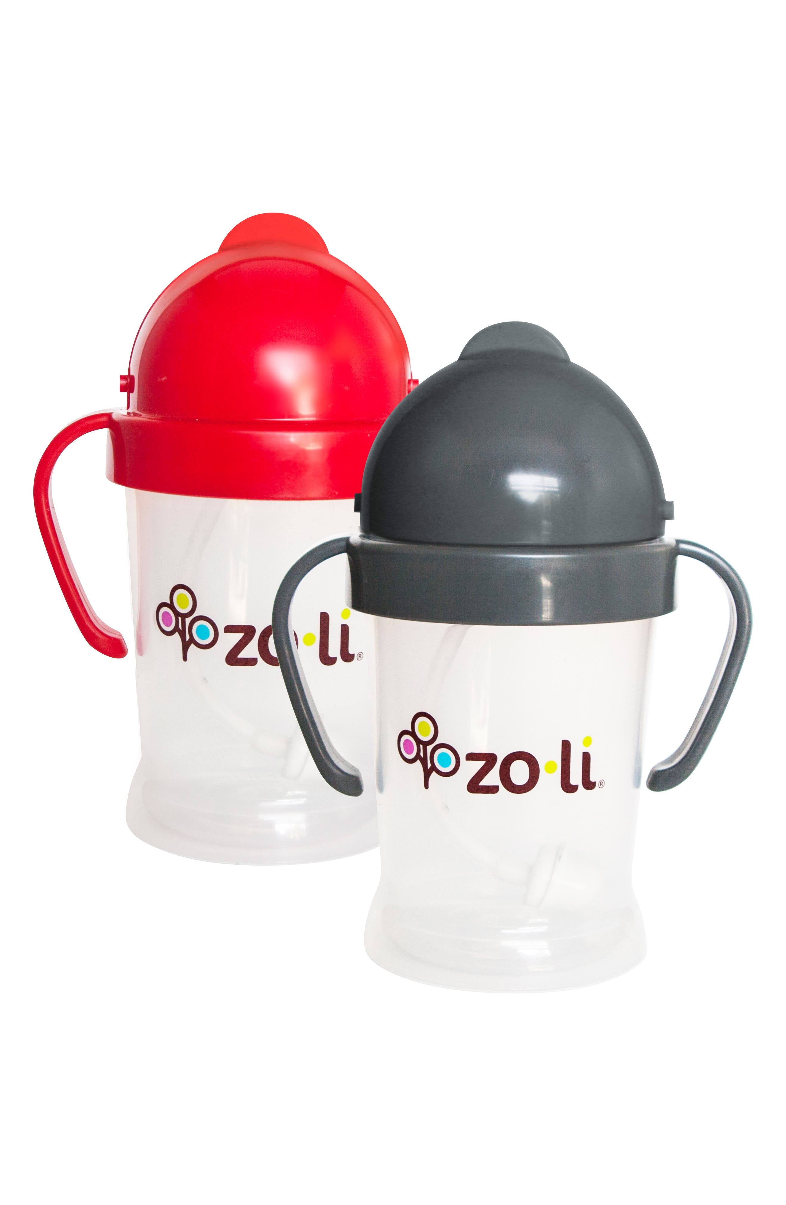 New BOT Set of 2 Sippy Cups,                         Main,                         color, Red With Grey