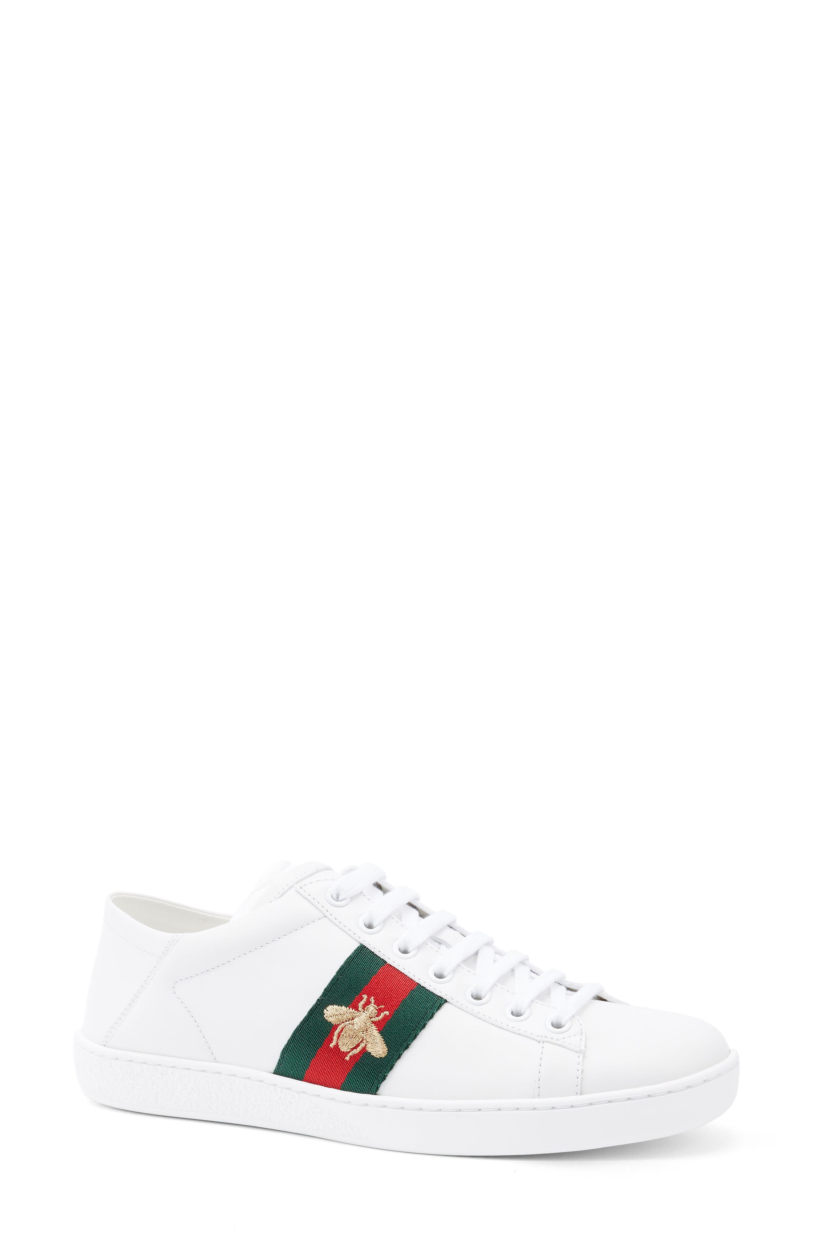 Alternate Image 1 Selected - Gucci New Ace Convertible Heel Sneaker (Women)
