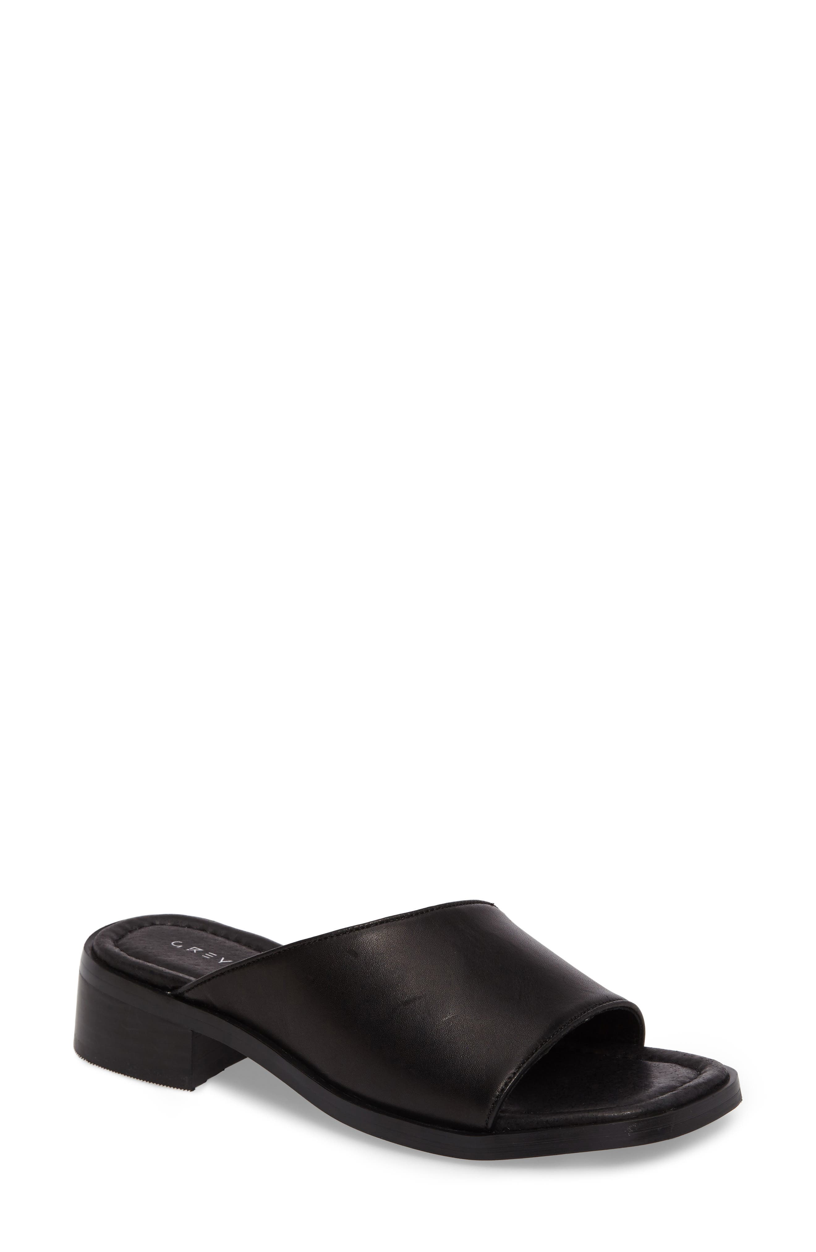 Paula Slide Sandal,                             Main thumbnail 1, color,                             Black