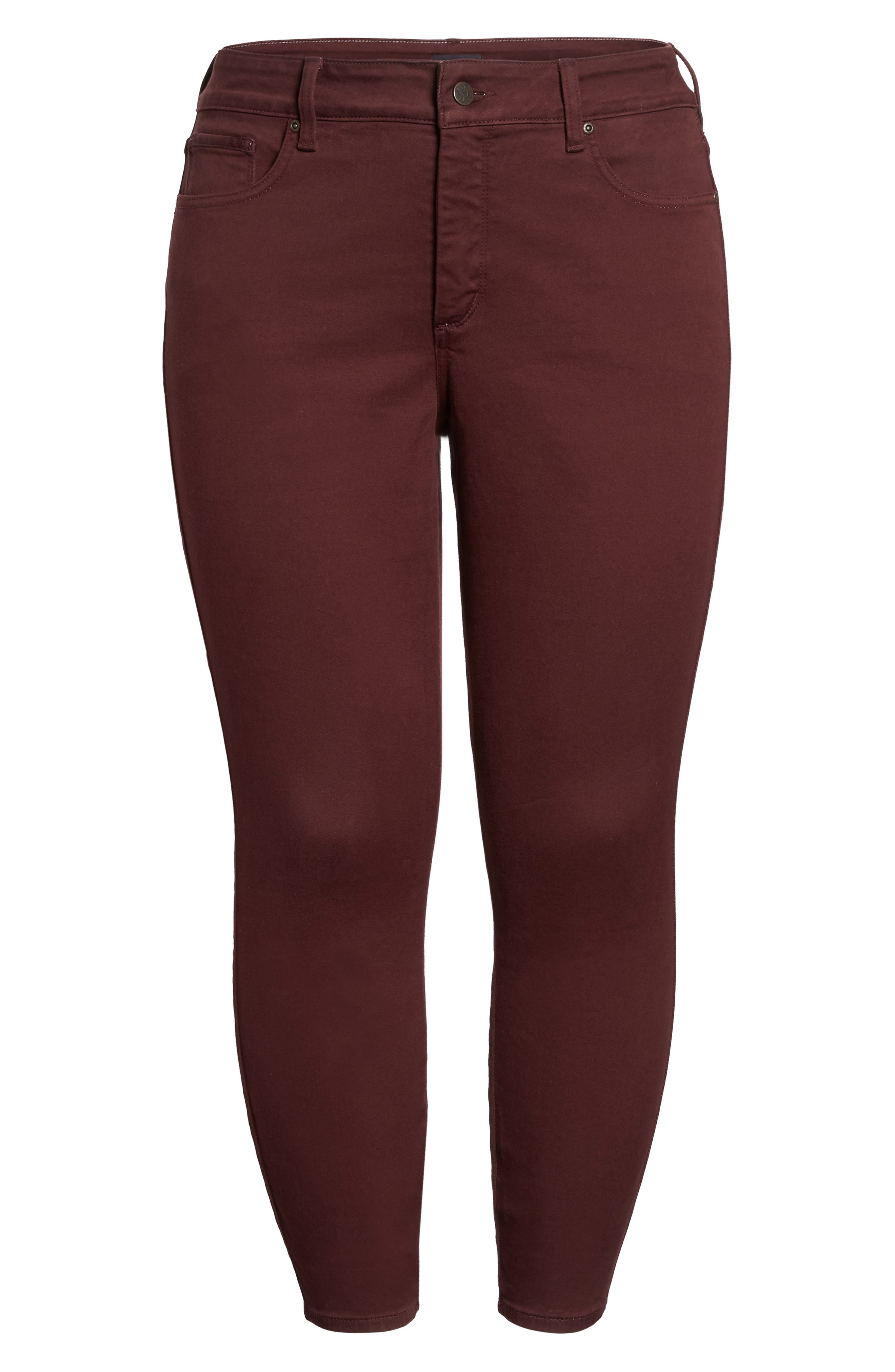 Ami Stretch Skinny Jeans,                             Alternate thumbnail 6, color,                             Deep Currant