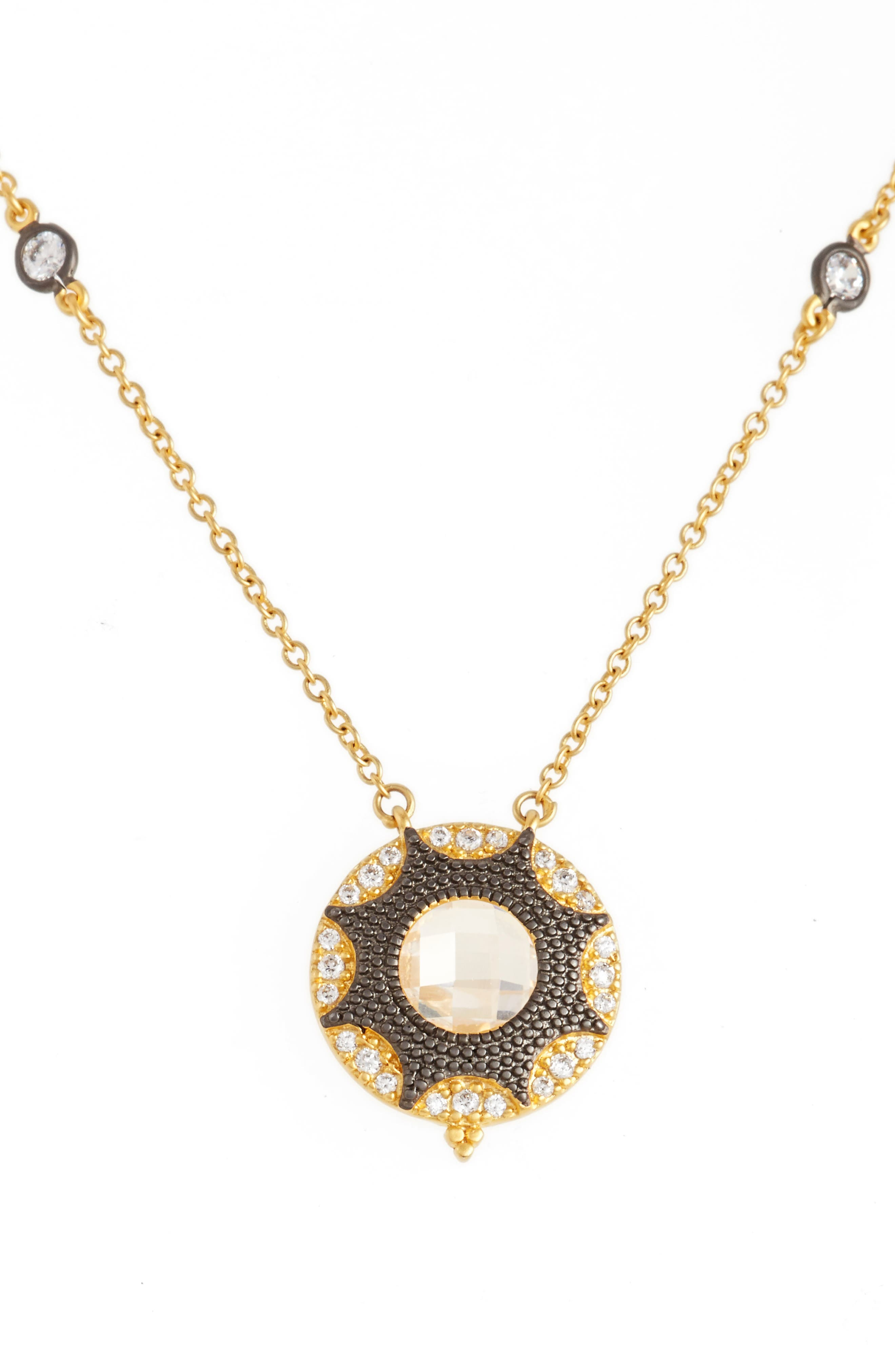FREIDA ROTHMAN Round Pendant Necklace