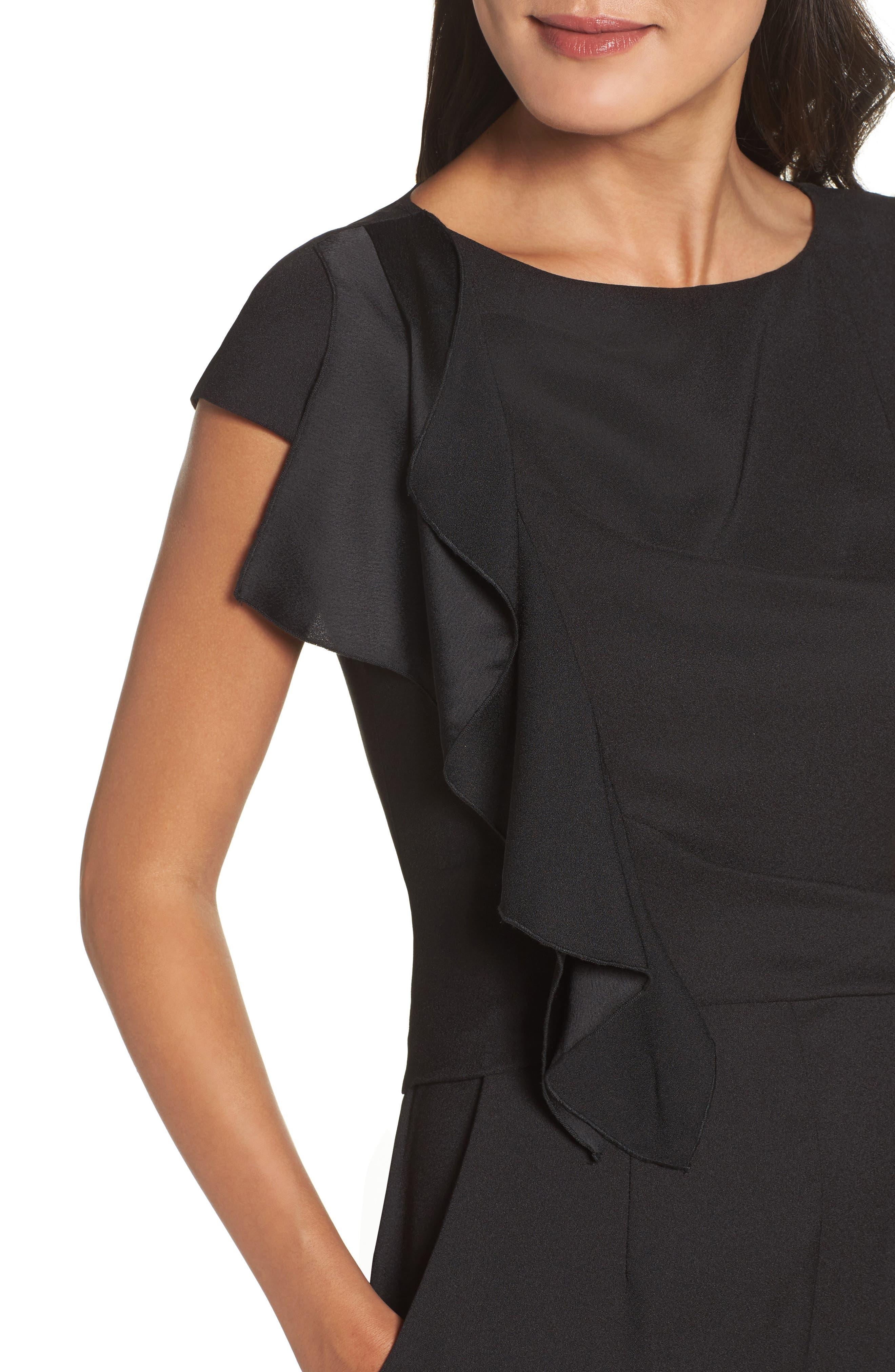 Alternate Image 4  - Eliza J Ruffle Sleeve Crepe Jumpsuit