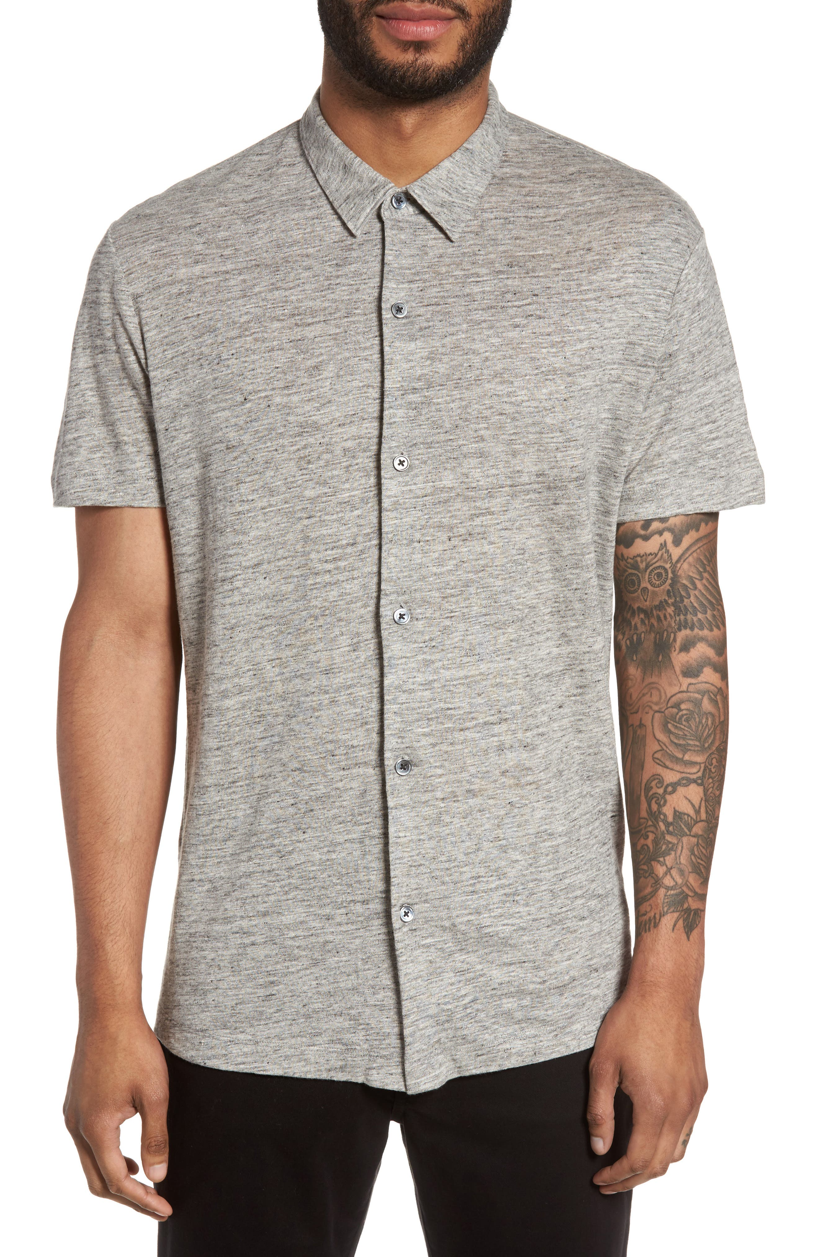 Alternate Image 1 Selected - Theory Linen Knit Sport Shirt