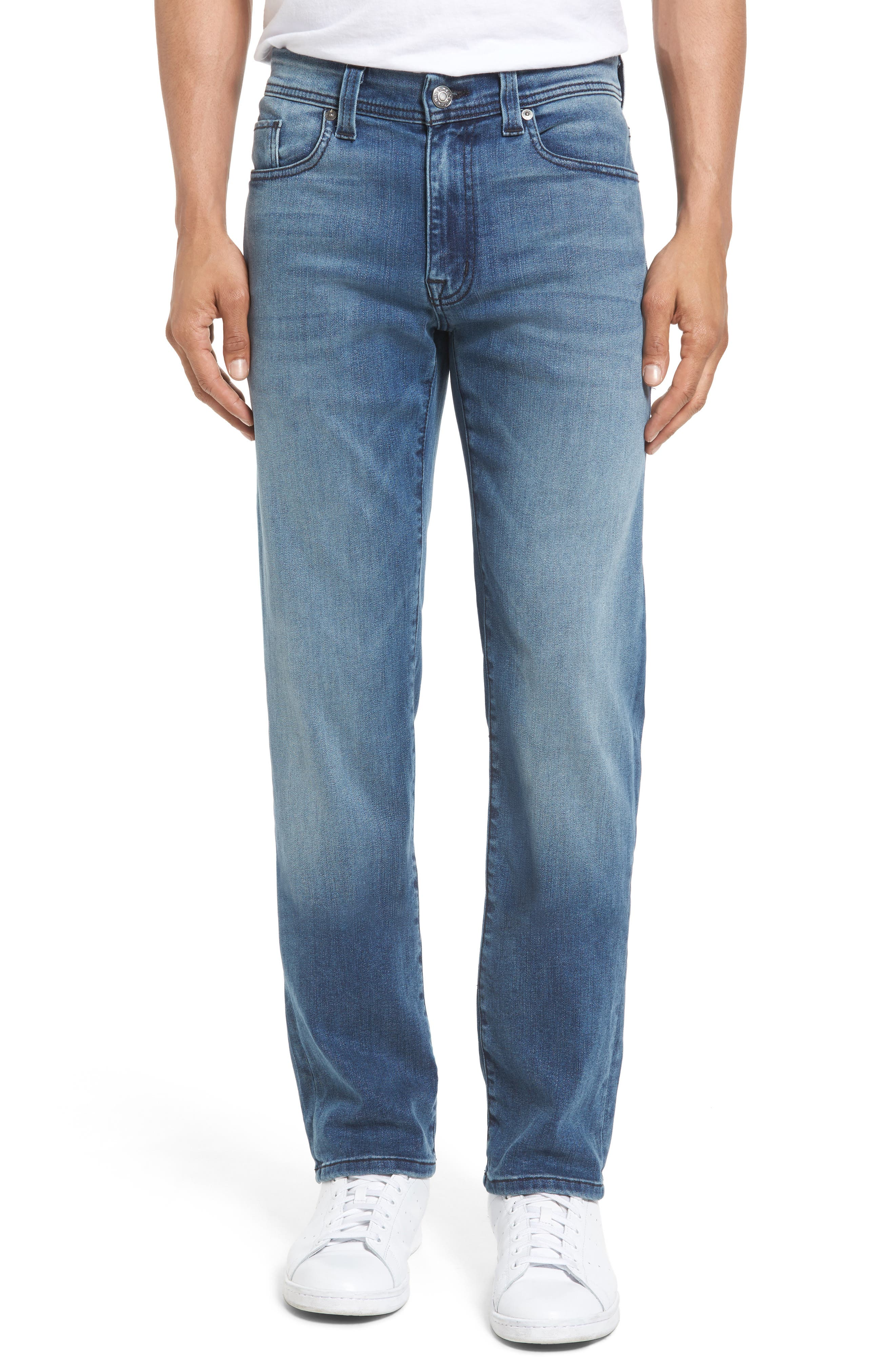 Jimmy Slim Straight Leg Jeans,                             Main thumbnail 1, color,                             Cortana Blue