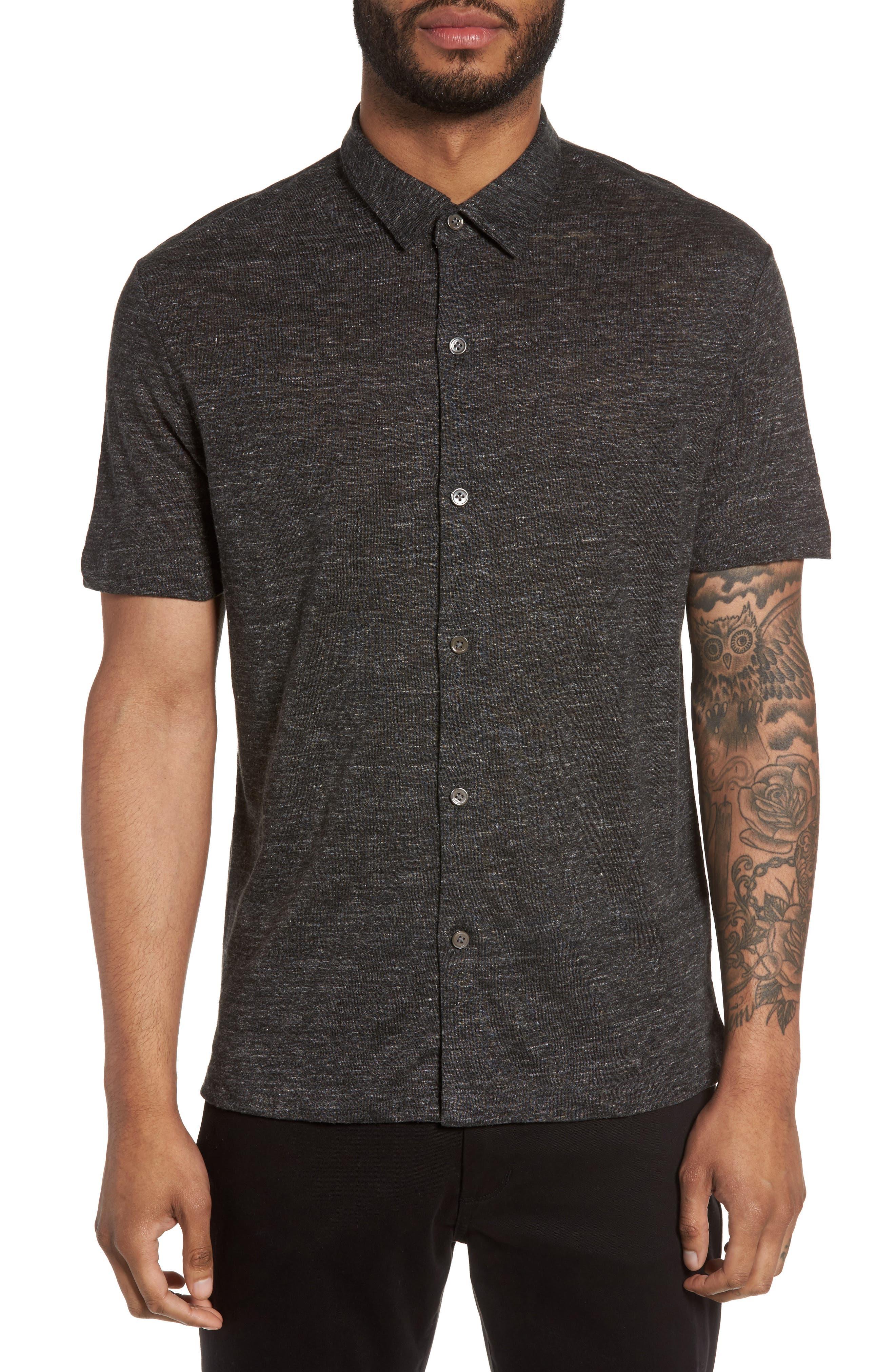 Main Image - Theory Linen Knit Sport Shirt