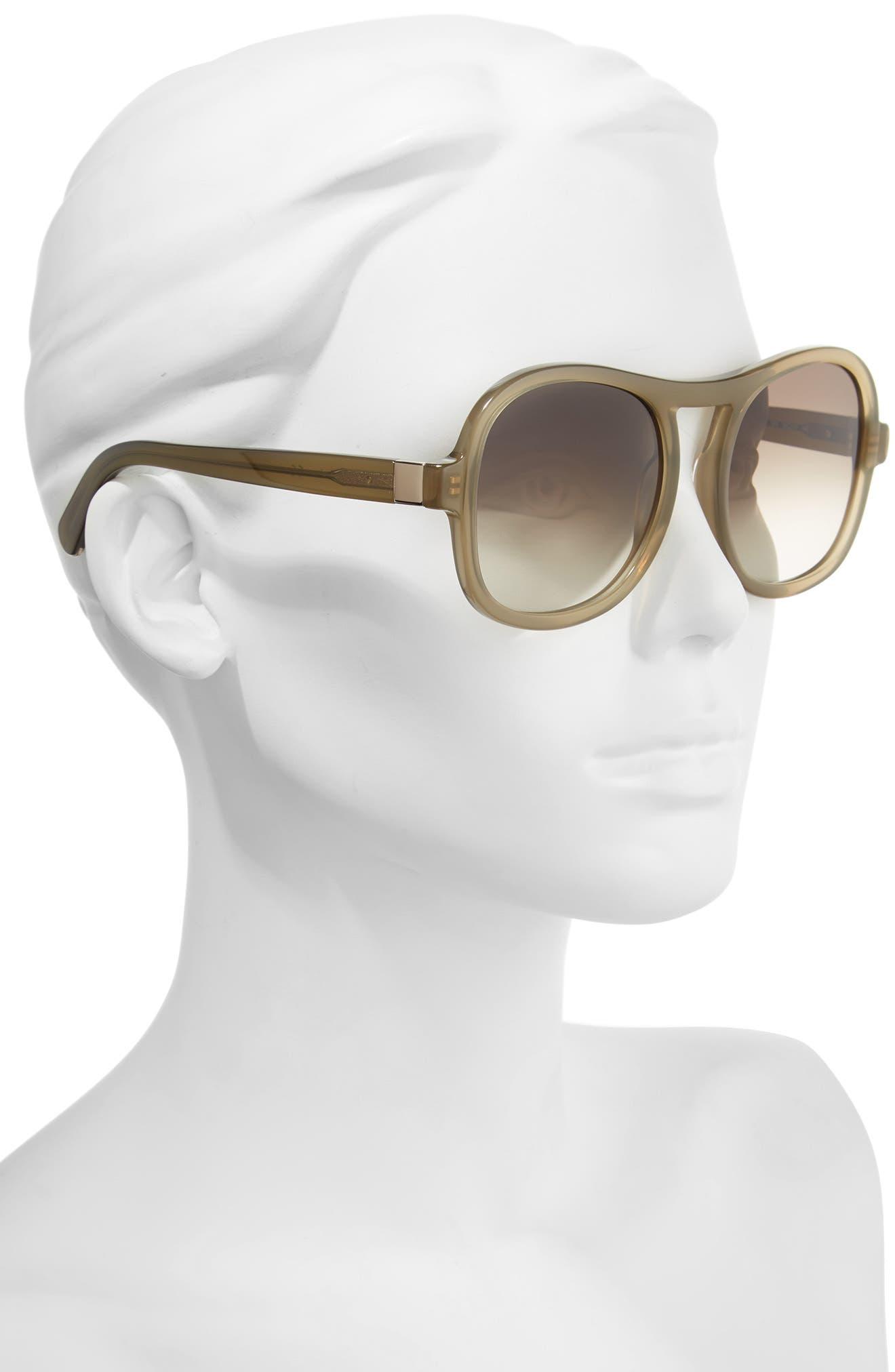 Marlow 56mm Gradient Lens Sunglasses,                             Alternate thumbnail 2, color,                             Khaki