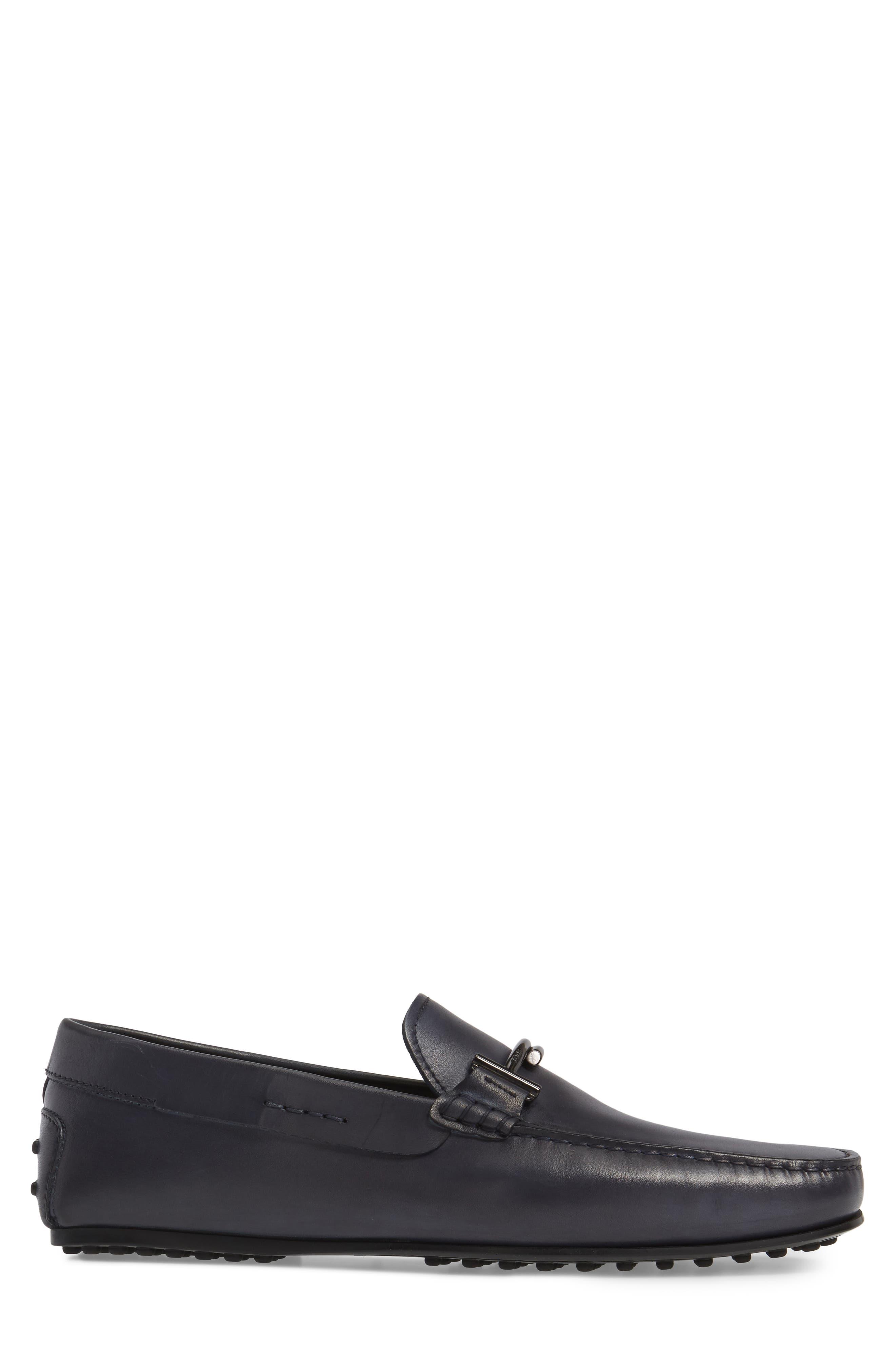 Gommini Driving Shoe,                             Alternate thumbnail 3, color,                             Dark Grey Leather
