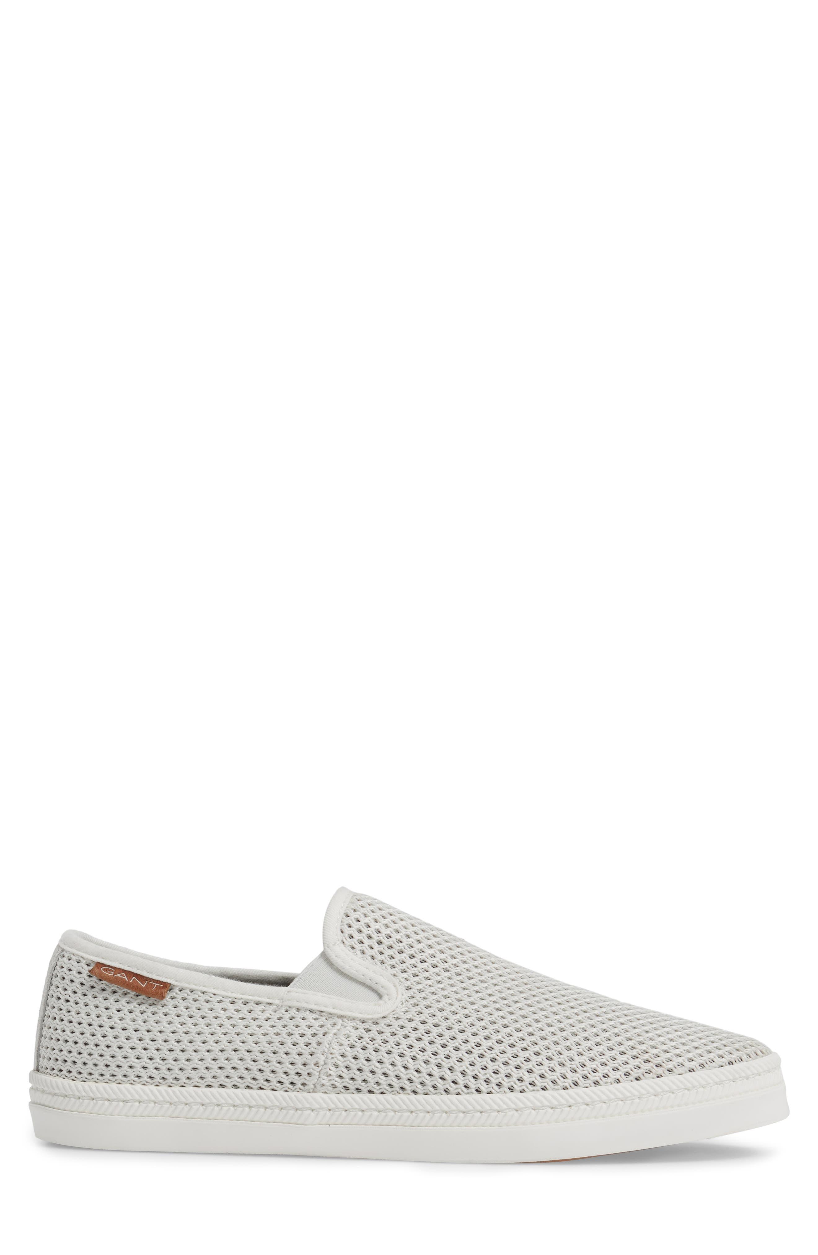 Delray Woven Slip-On Sneaker,                             Alternate thumbnail 3, color,                             Bone Beige Fabric