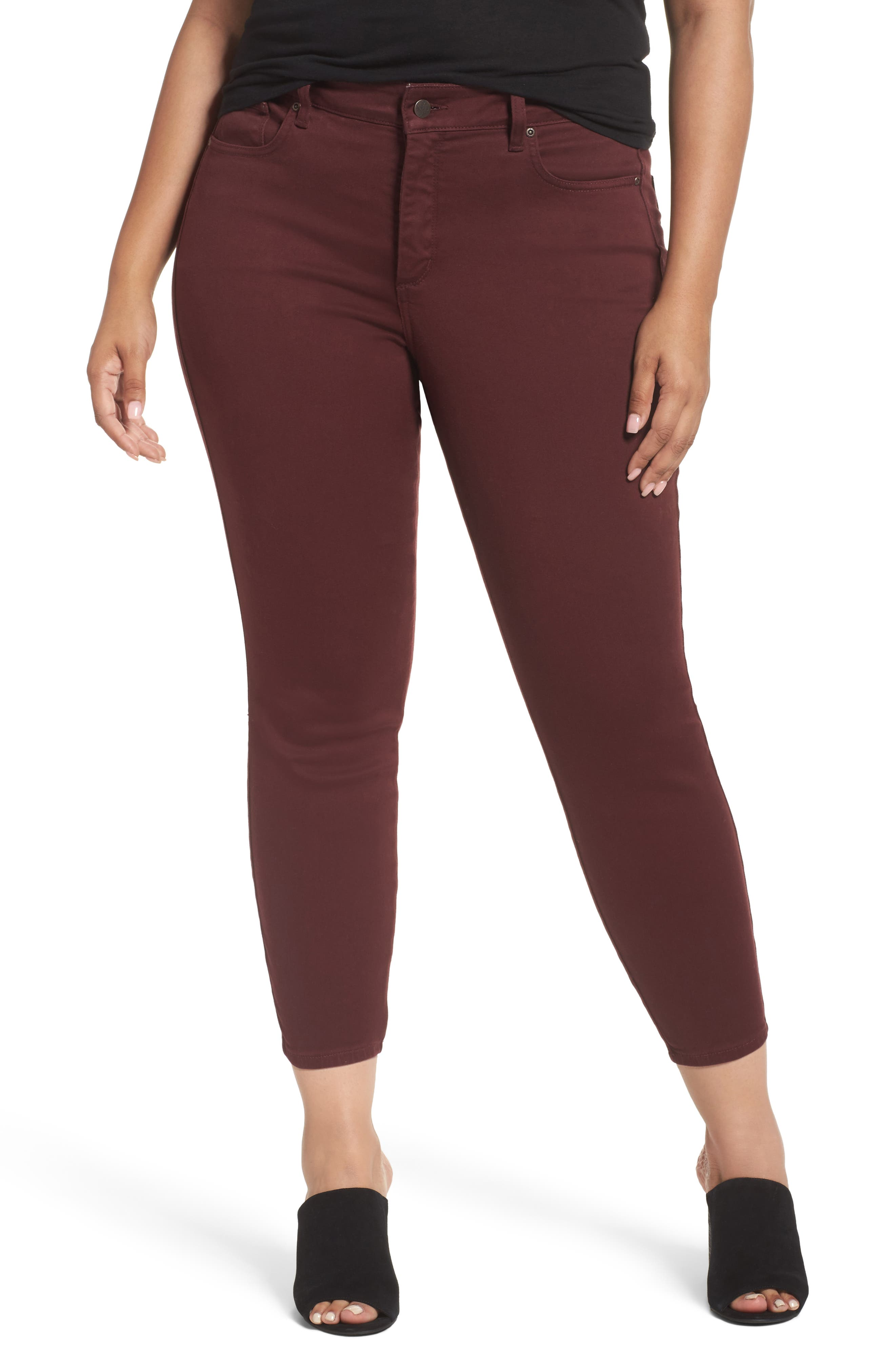 Alternate Image 1 Selected - NYDJ Ami Stretch Skinny Jeans (Plus Size) (Deep Currant)