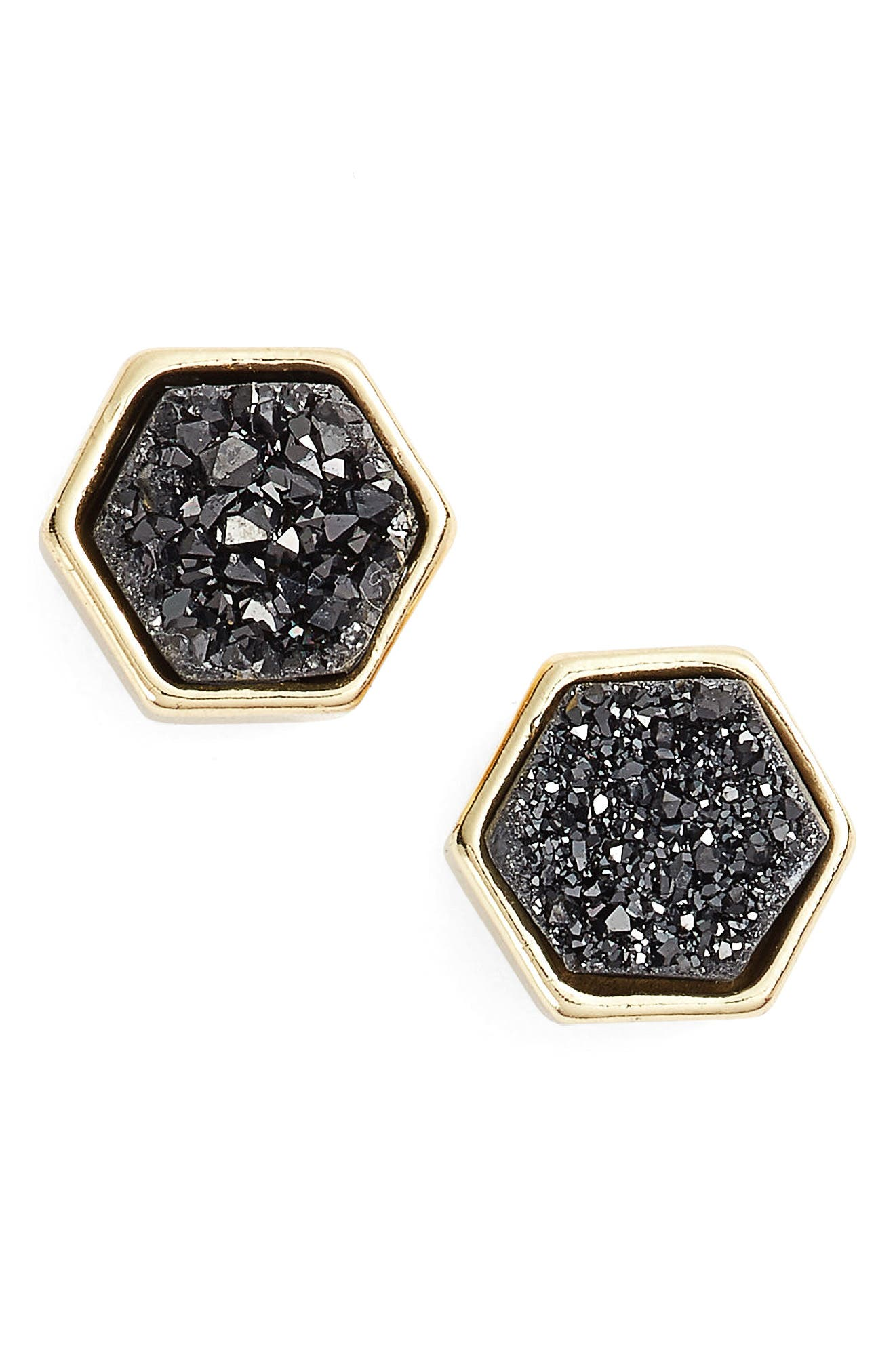 TEMPESTE HEX STUD EARRINGS