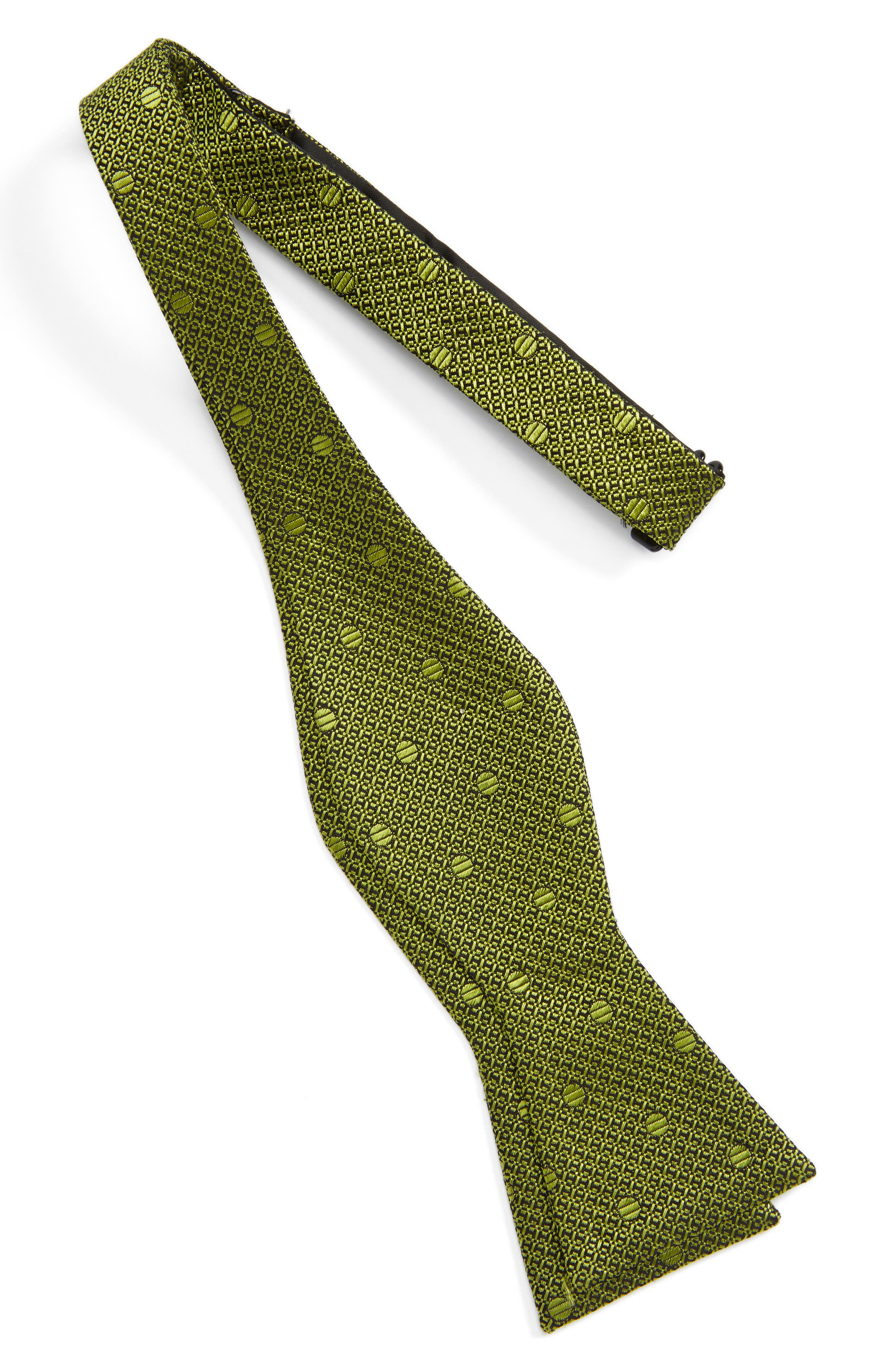 Alternate Image 2  - Calibrate Textured Dot Silk Bow Tie