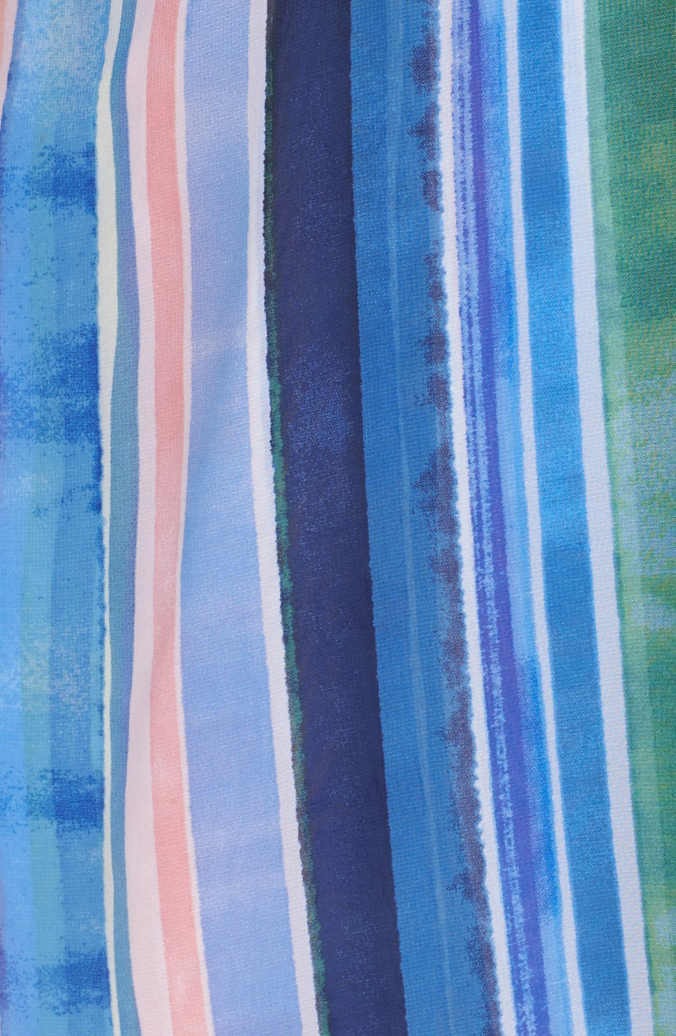 Stripe Faux Wrap Dress,                             Alternate thumbnail 5, color,                             Multi