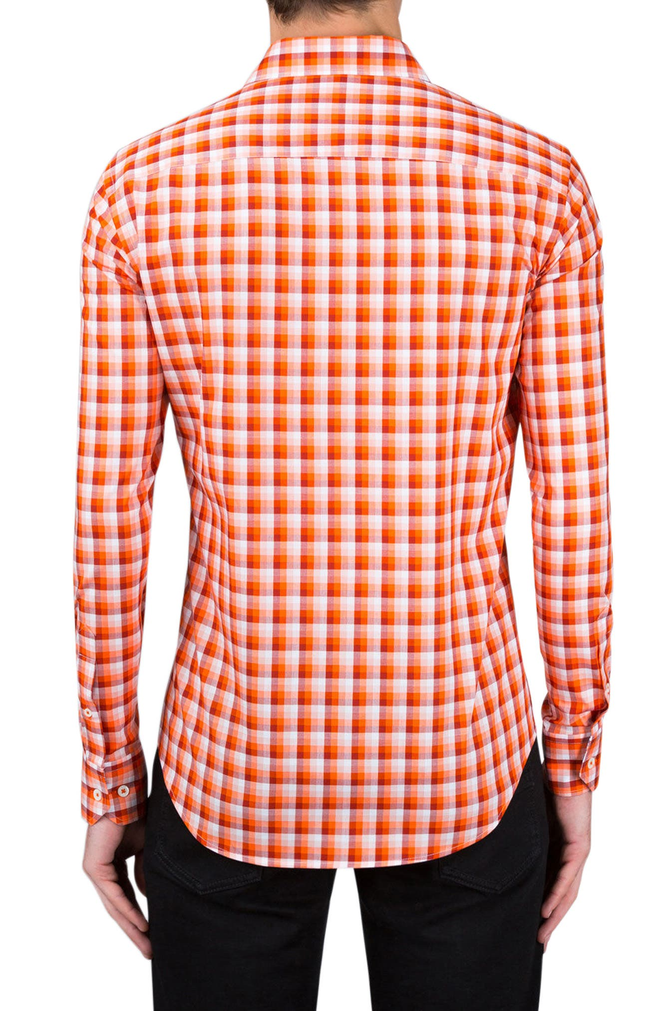 Alternate Image 2  - Bugatchi Shaped Fit Check Sport Shirt