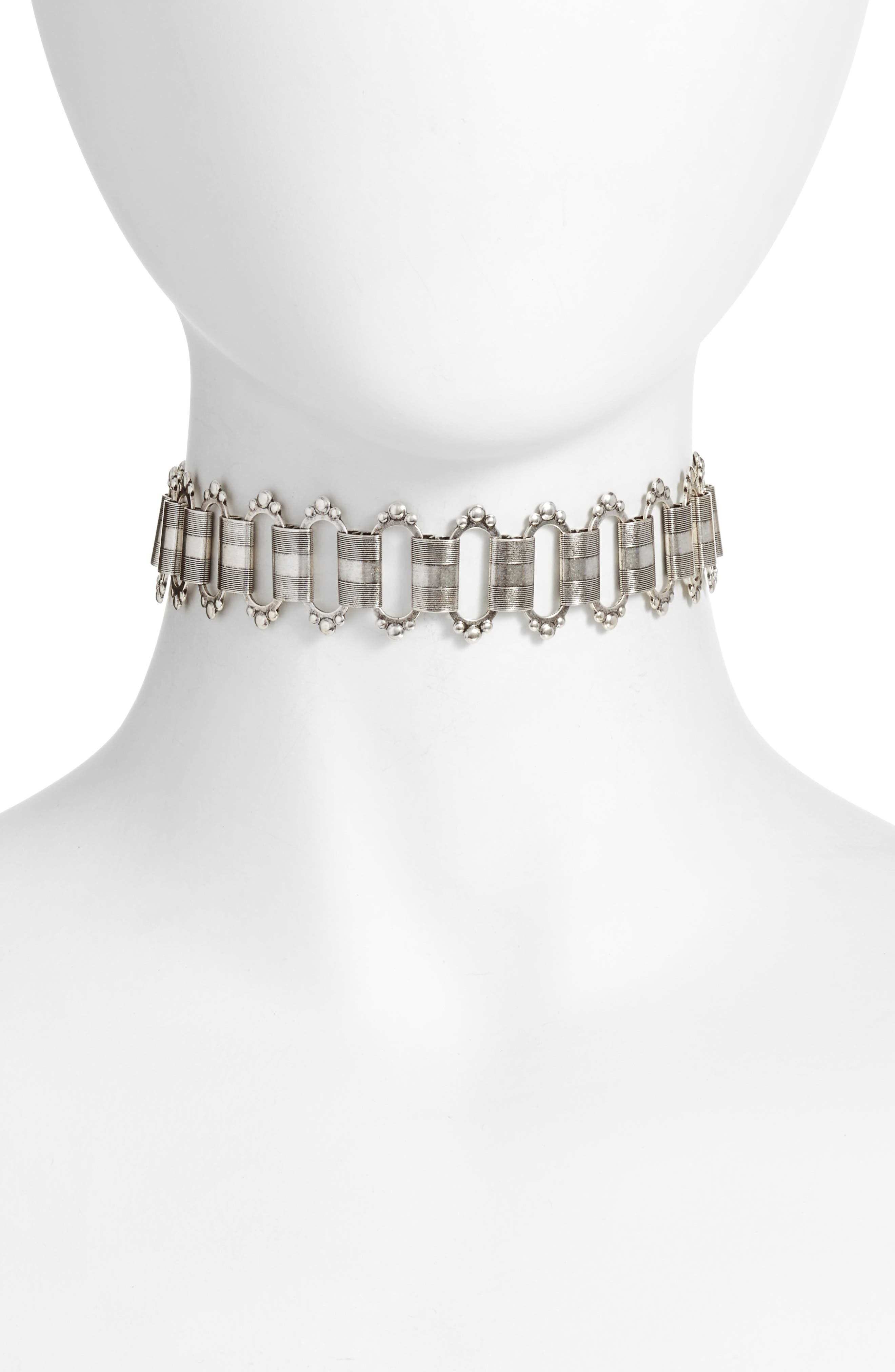 Sulai Choker Necklace,                         Main,                         color, Silver