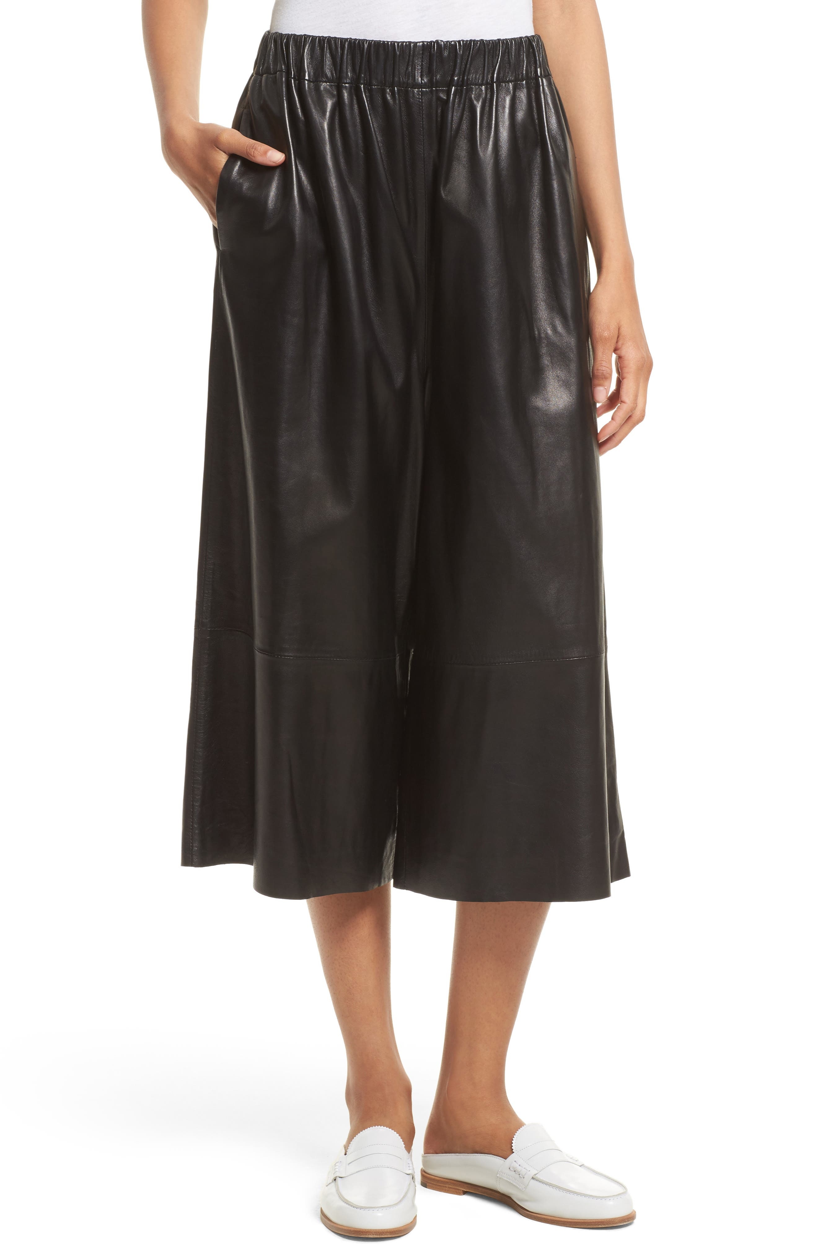 Alternate Image 1 Selected - Robert Rodriguez Leather Gaucho Pants