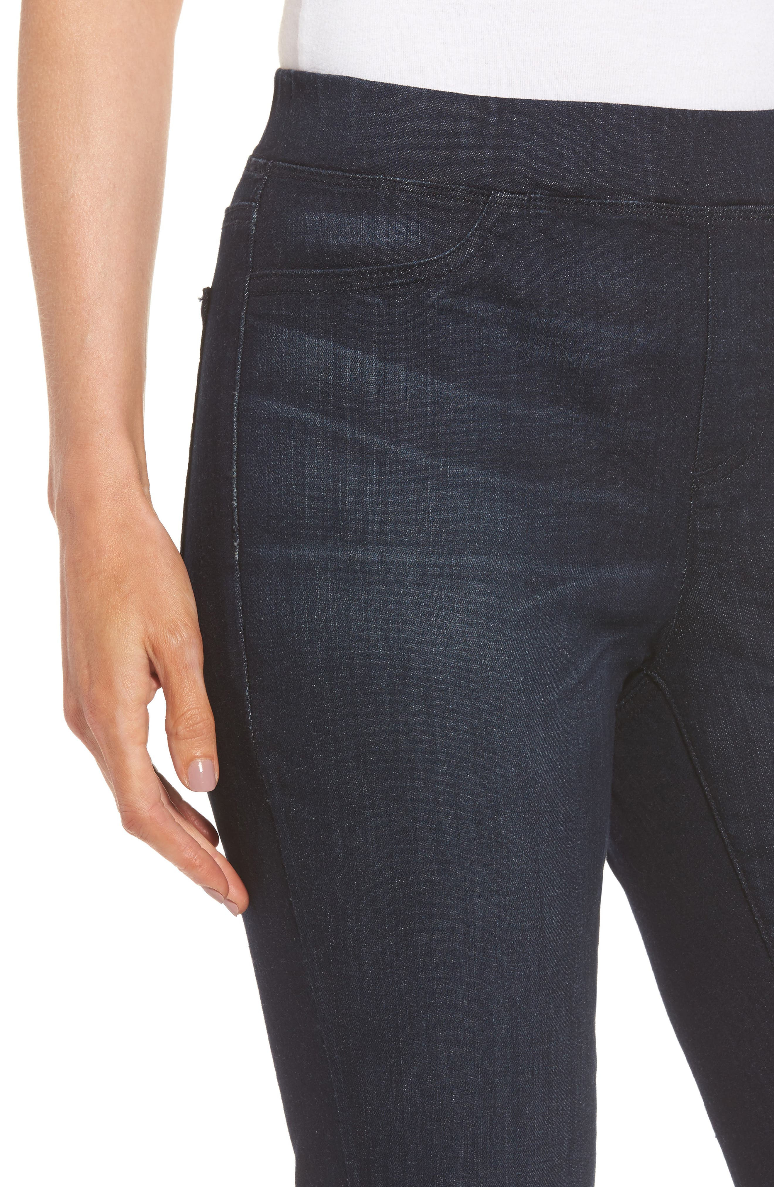Alternate Image 4  - Eileen Fisher Stretch Denim Leggings (Regular & Petite)