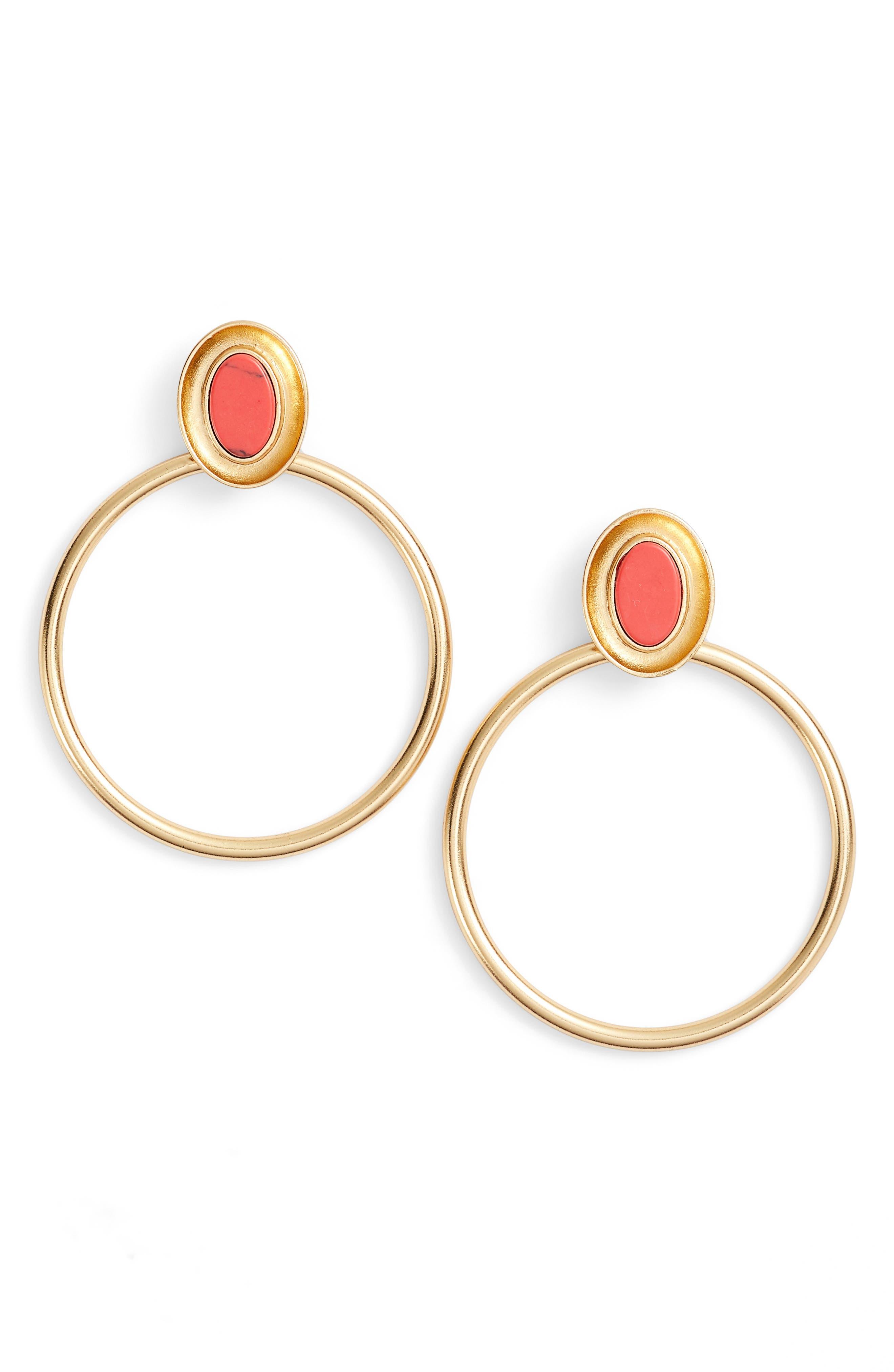 kate spade new york bright & bold hoop earrings