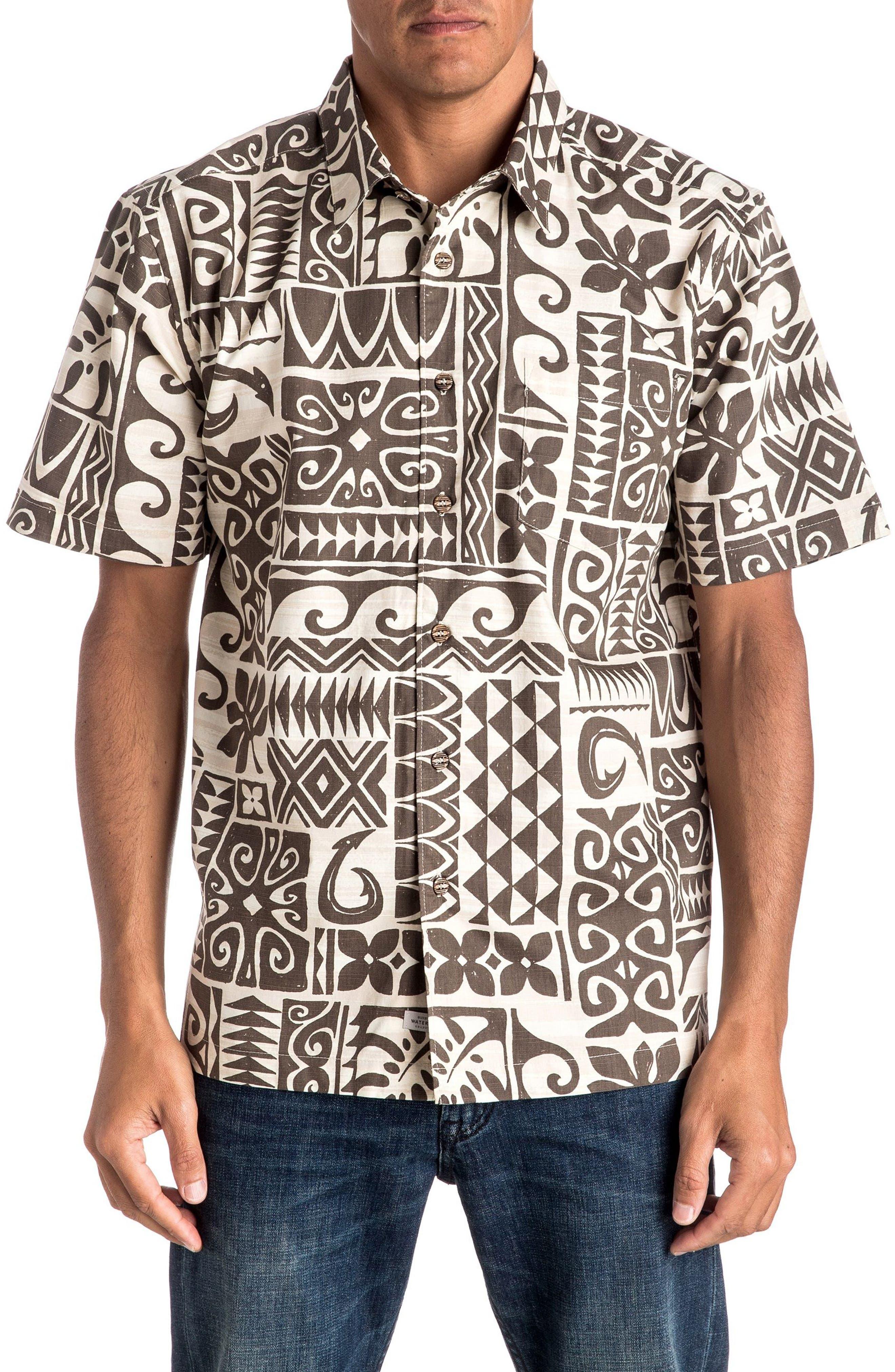 Quiksilver Waterman Collection Cooks Regular Fit Print Sport Shirt