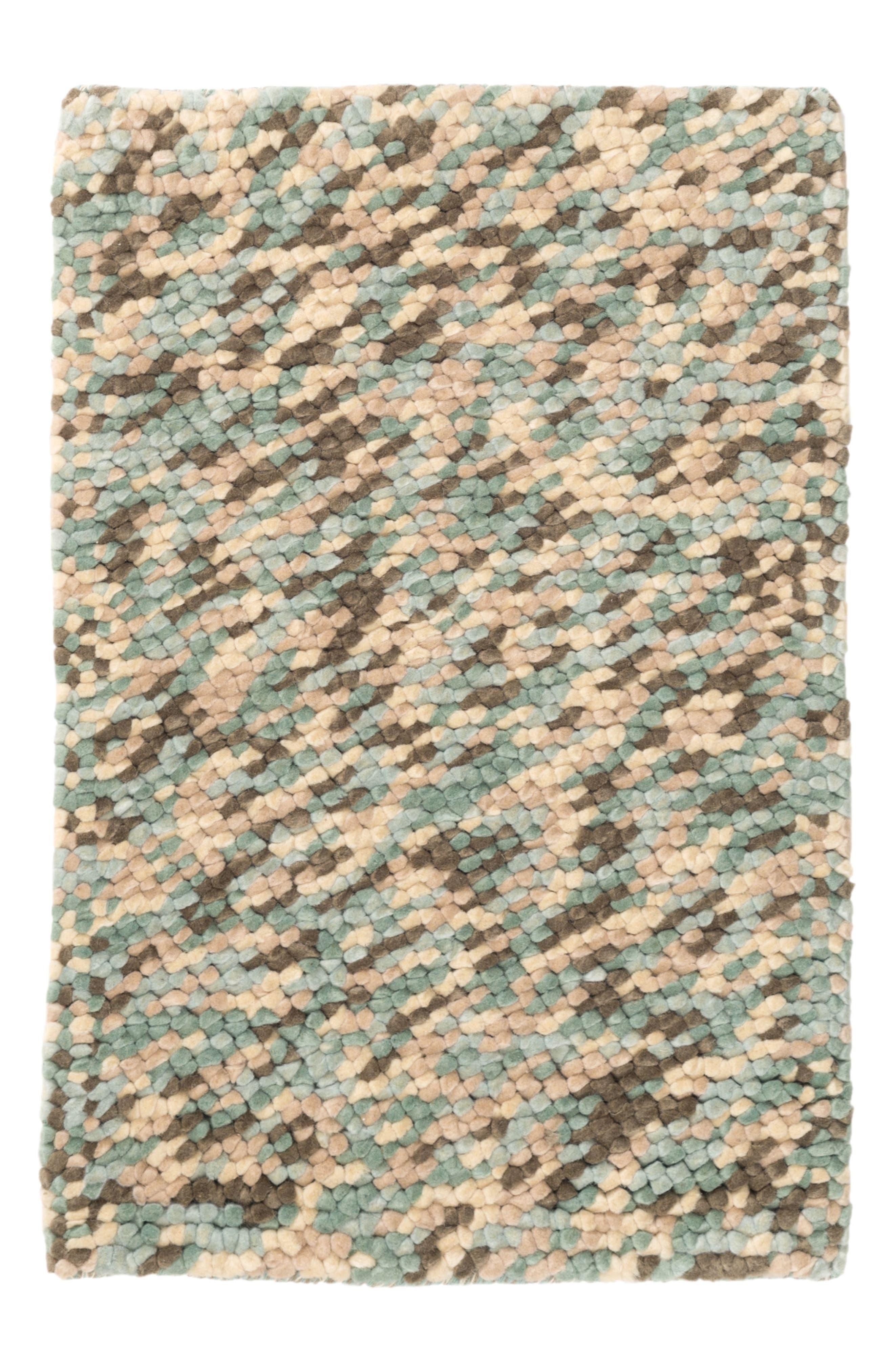 Seurat Seaglass Wool Rug,                         Main,                         color, Blue