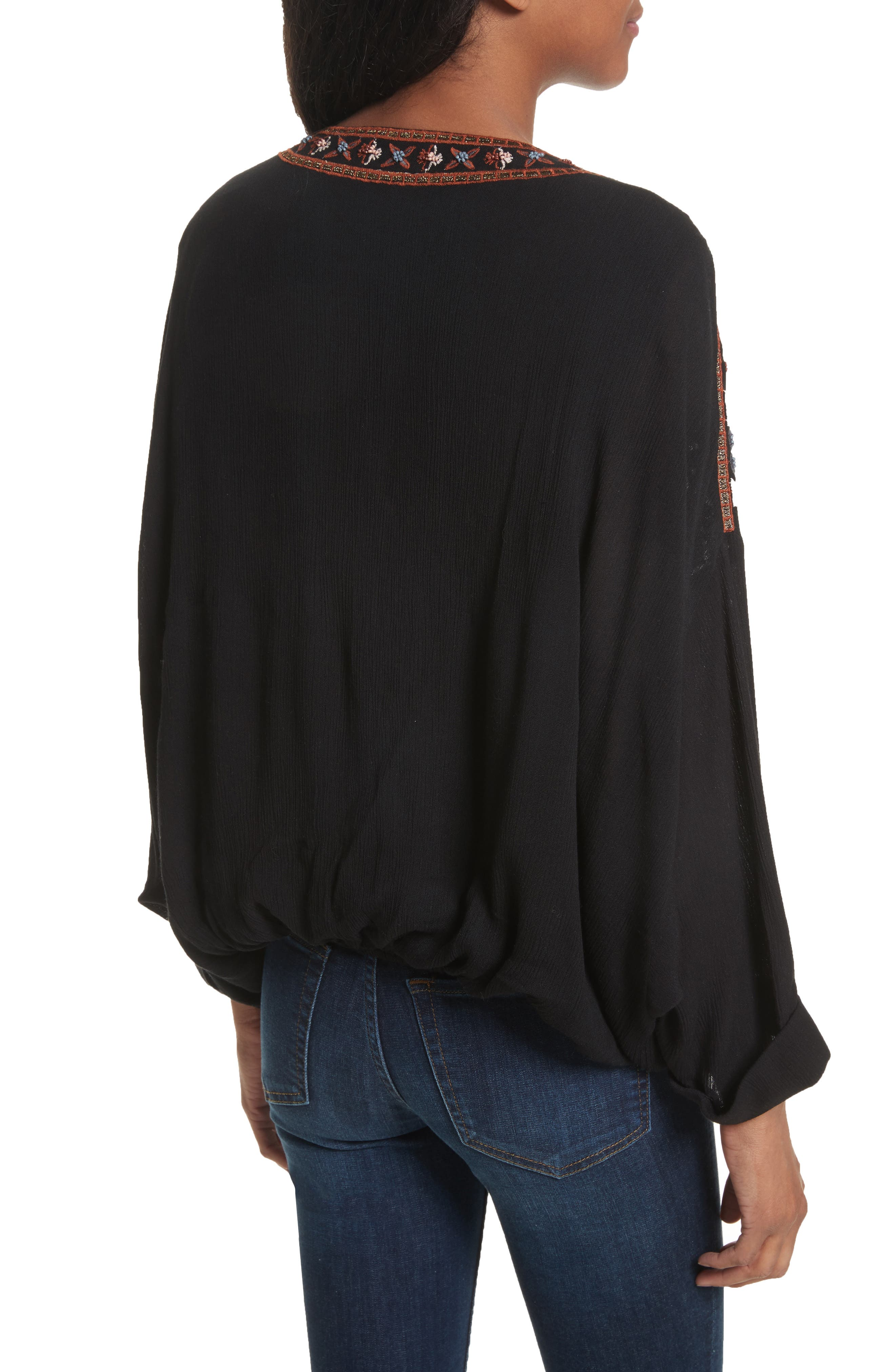 Alternate Image 2  - Free People Crescent Moon Embroidered Blouse