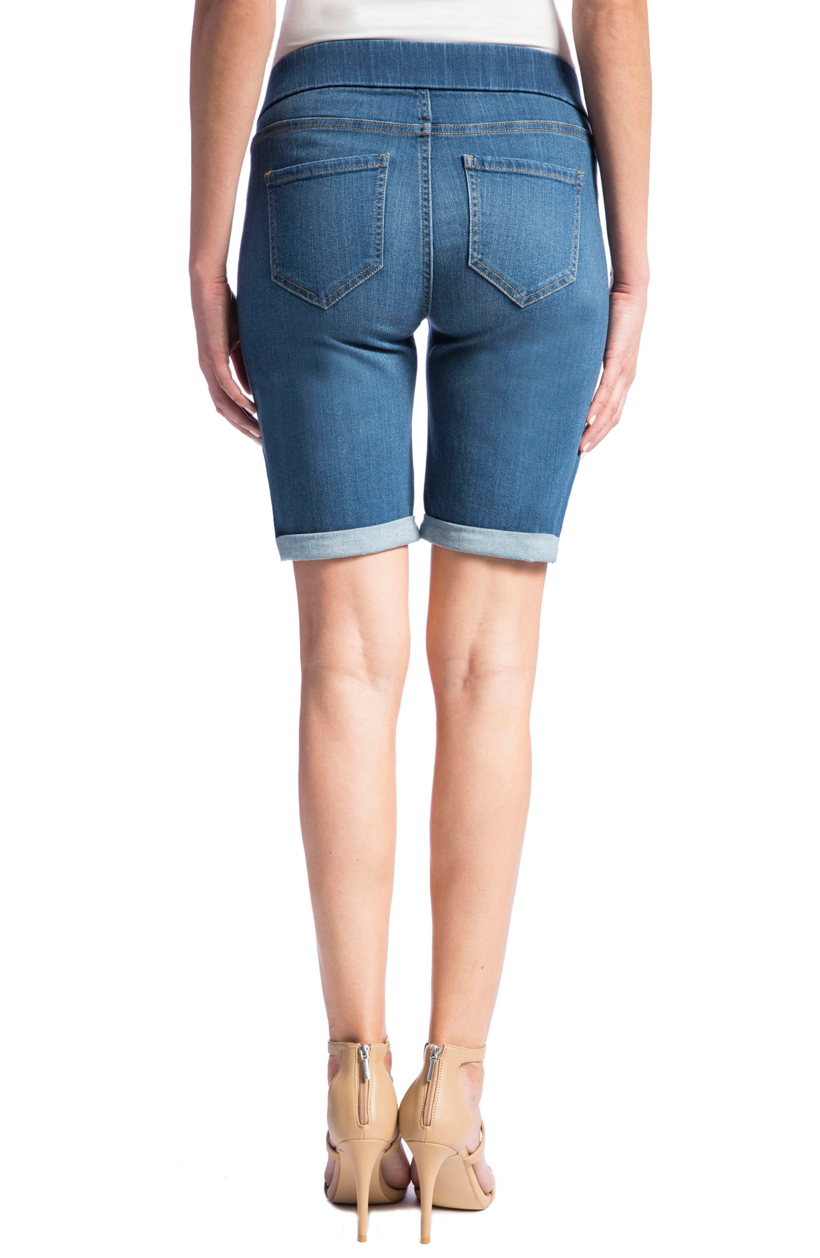 Sienna Pull-On Denim Bermuda Shorts,                             Alternate thumbnail 2, color,                             Coronado Mid